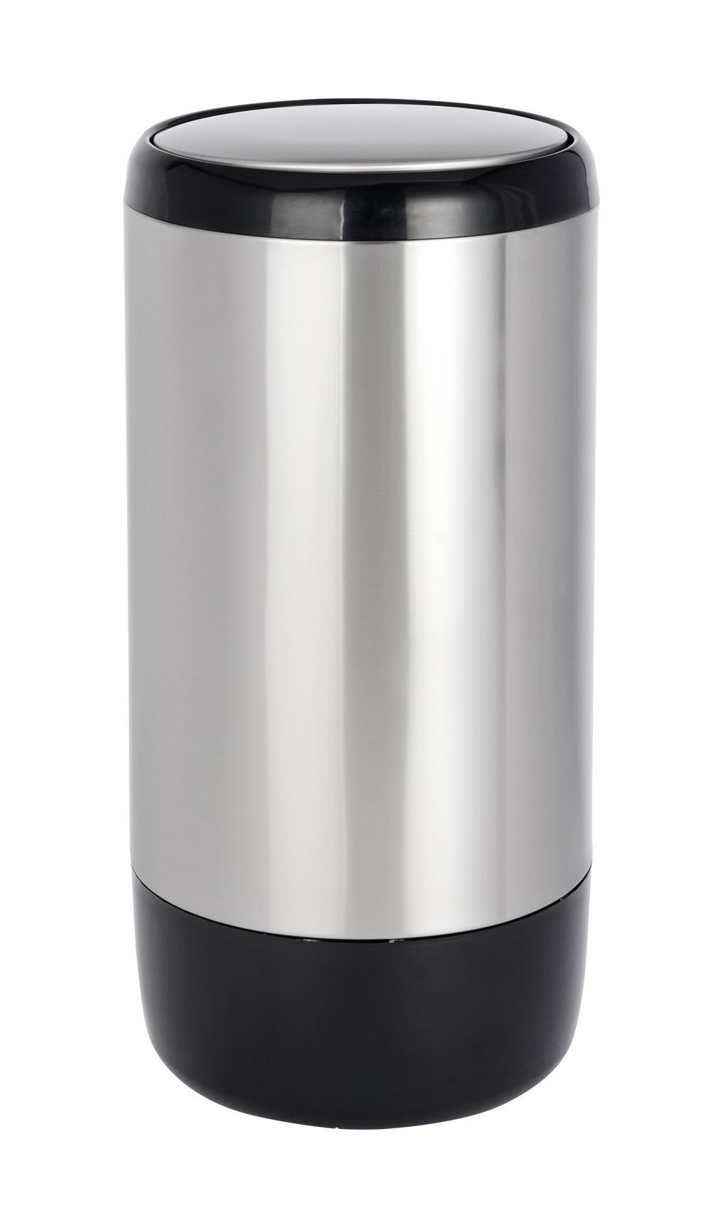 Wenko Schwingdeckeleimer Loft, Edelstahl rostfrei, 30 Liter