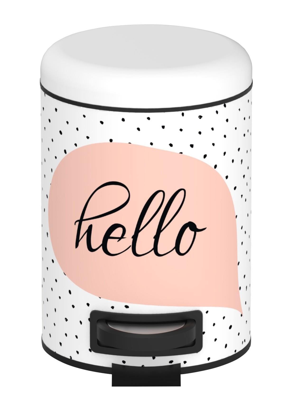 Wenko Kosmetik Treteimer Hello, 3 Liter