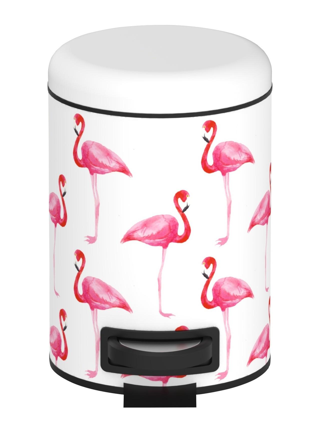 Wenko Kosmetik Treteimer Flamingo, 3 Liter