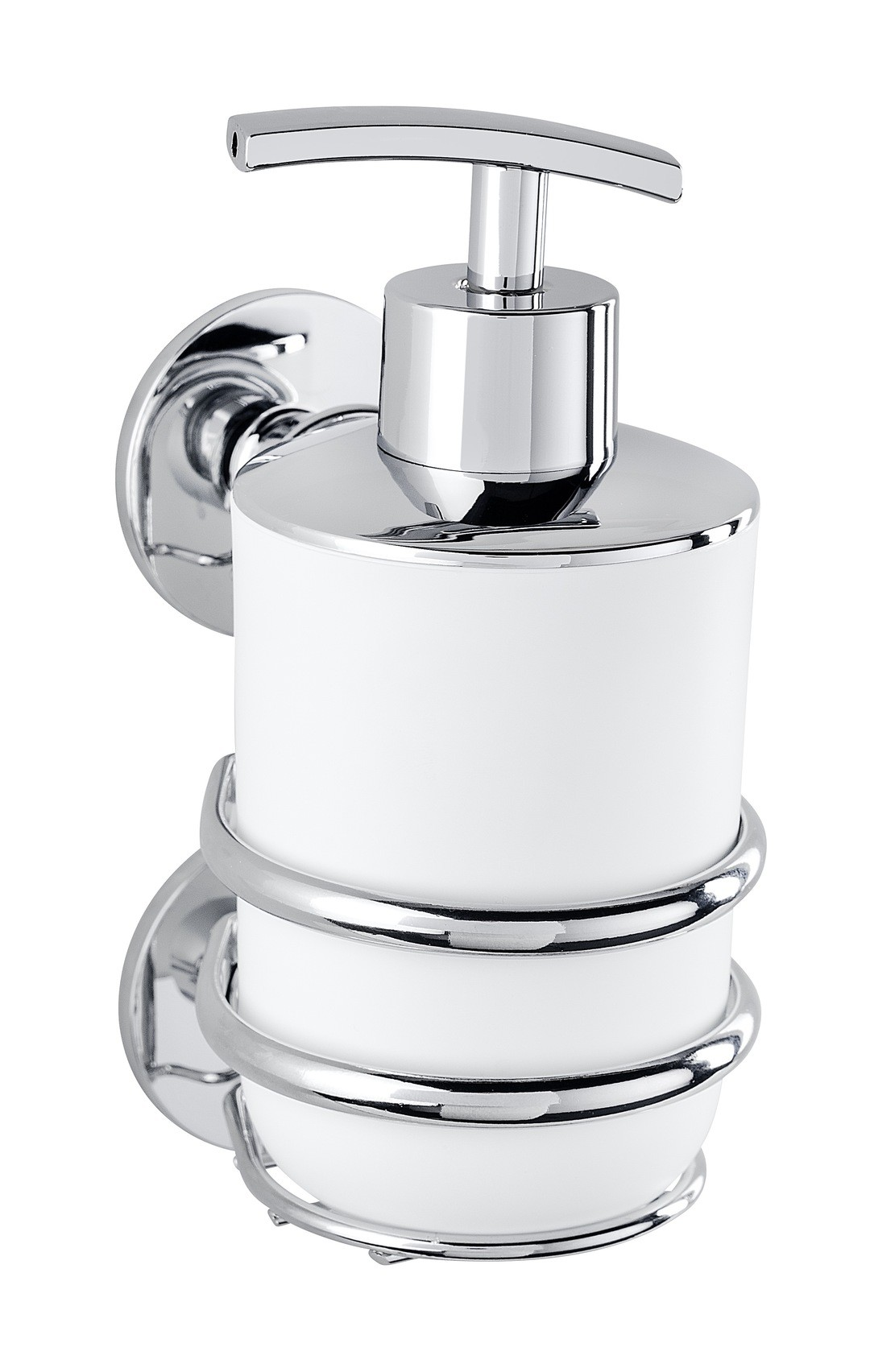 Wenko Express-Loc® Seifenspender Cali, Edelstahl, Befestigen ohne bohren, 320 ml
