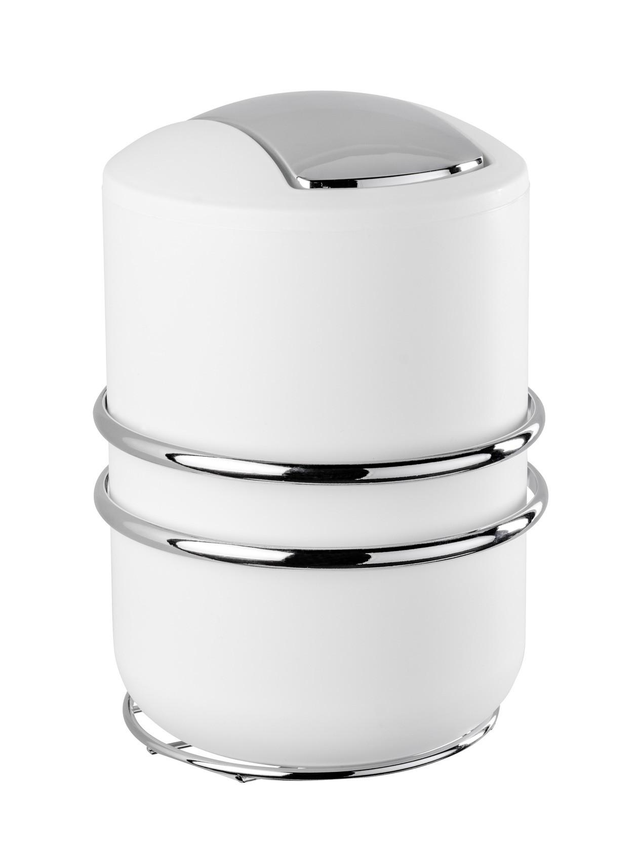 Wenko Express-Loc® Schwingdeckeleimer Cali, 2 Liter, Edelstahl, Befestigen ohne bohren