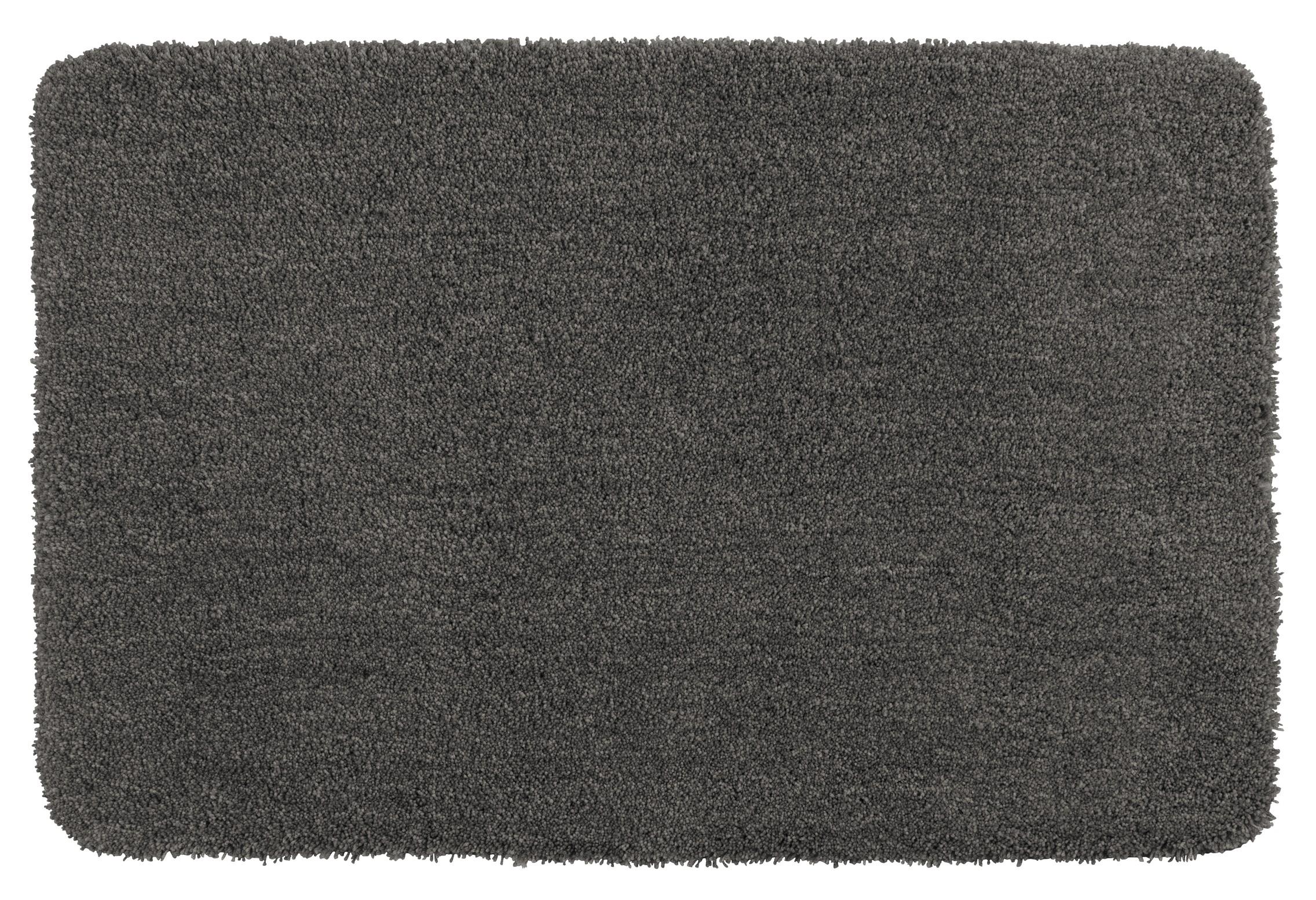 Wenko Badteppich Belize Mouse Grey, 70 x 120 cm, Mikrofaser