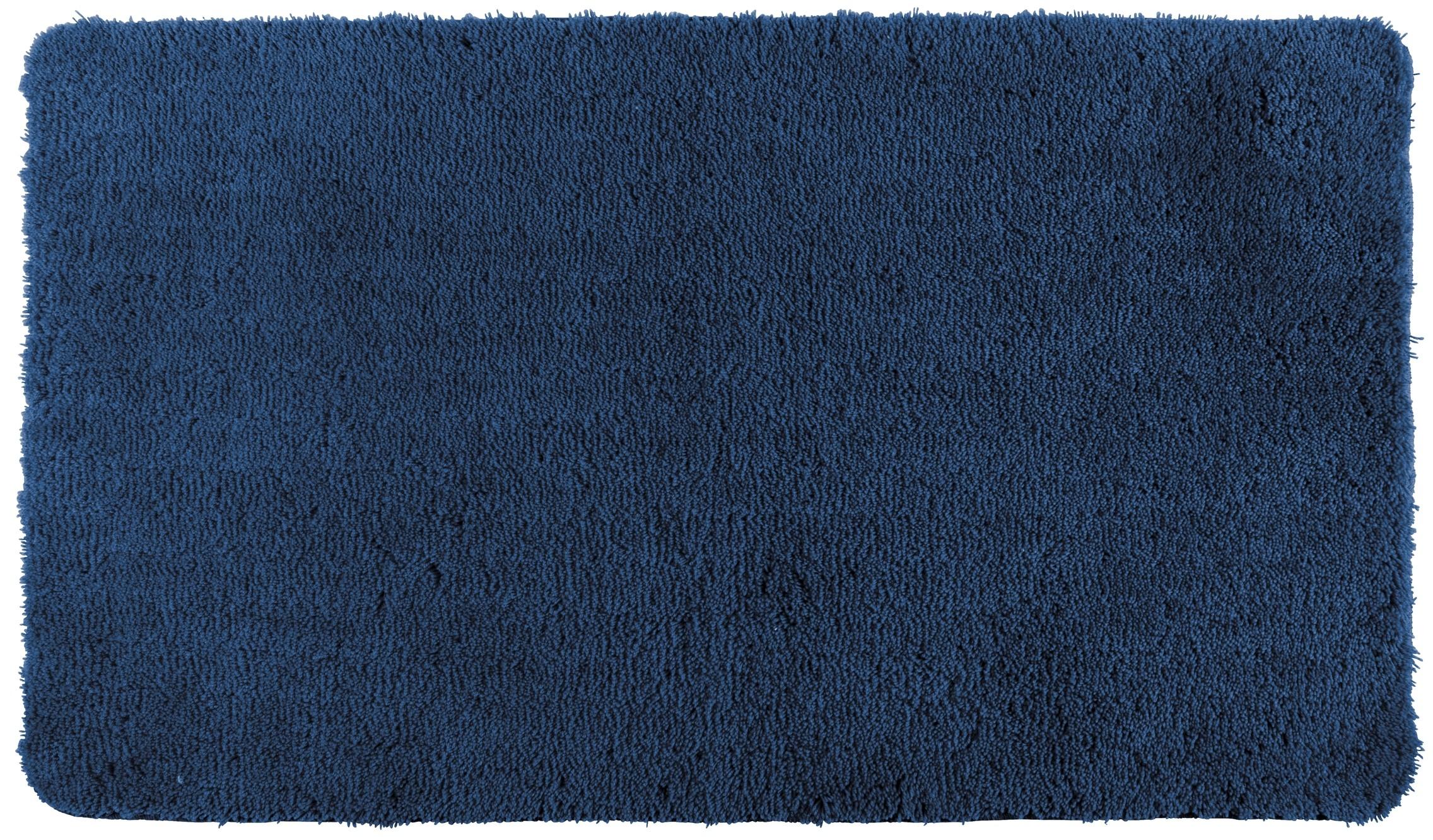 Wenko Badteppich Belize Marine Blue, 60 x 90 cm, Mikrofaser