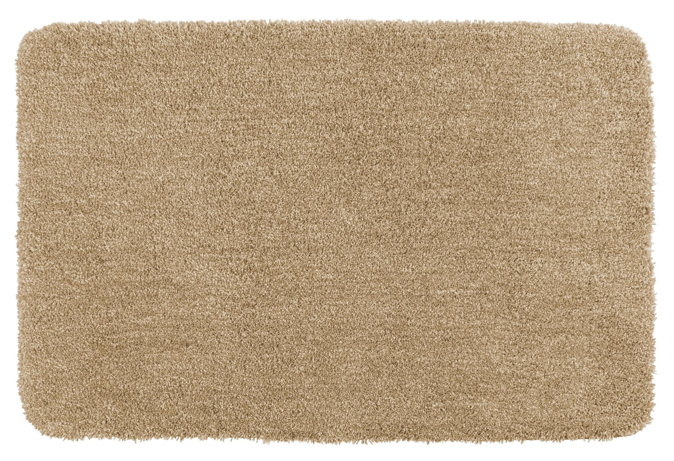 Wenko Badteppich Mélange Sand, 70 x 120 cm, Mikrofaser