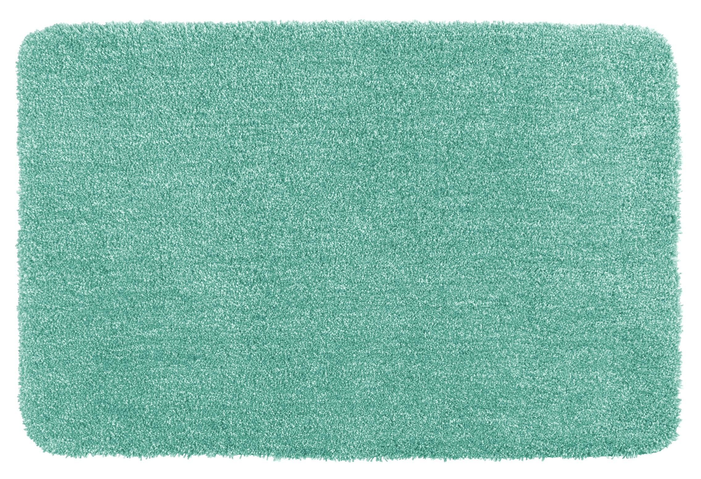 Wenko Badteppich Mélange Turquoise, 56 x 65 cm, Mikrofaser