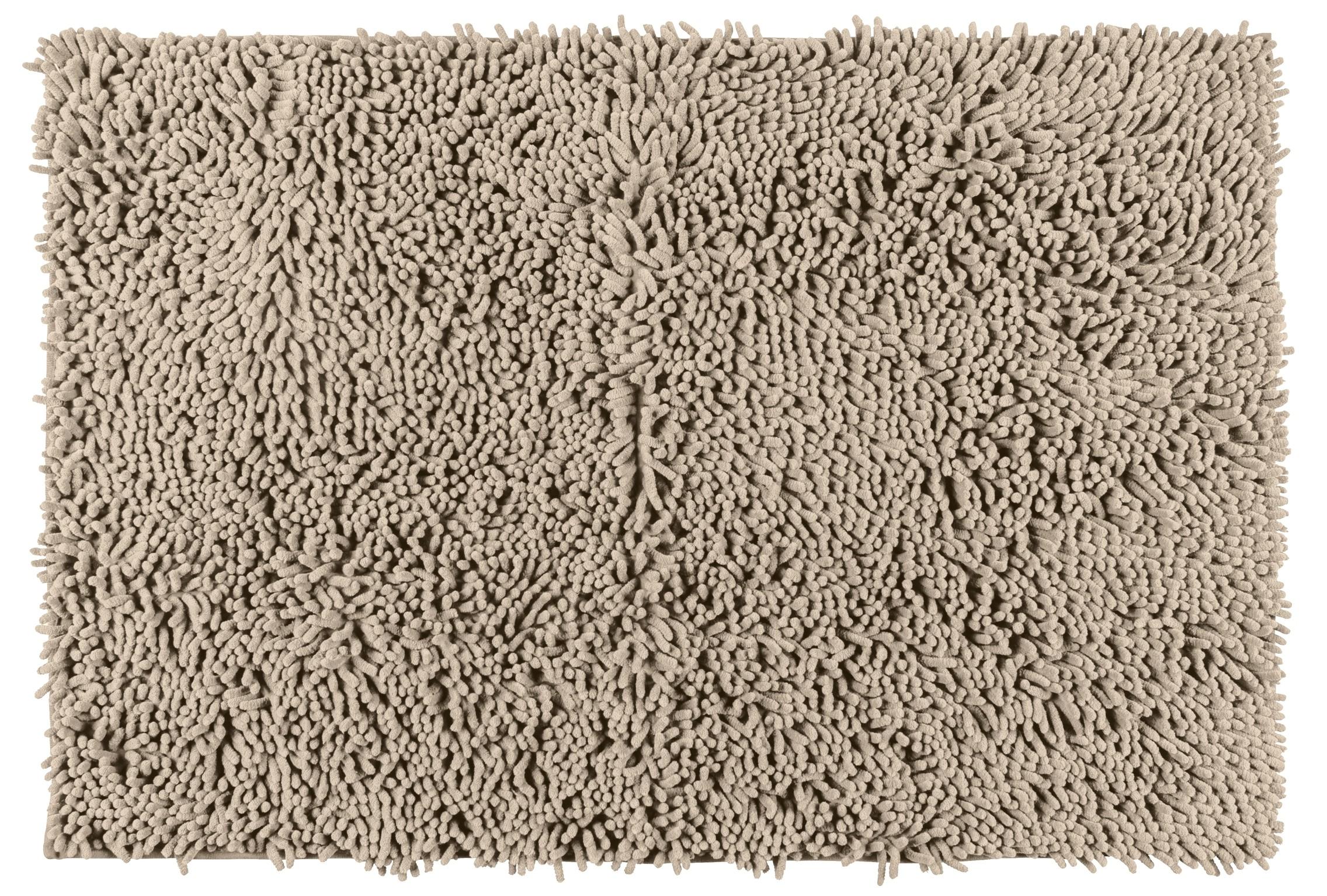 Wenko Badematte Chenille Sand, 50 x 80 cm