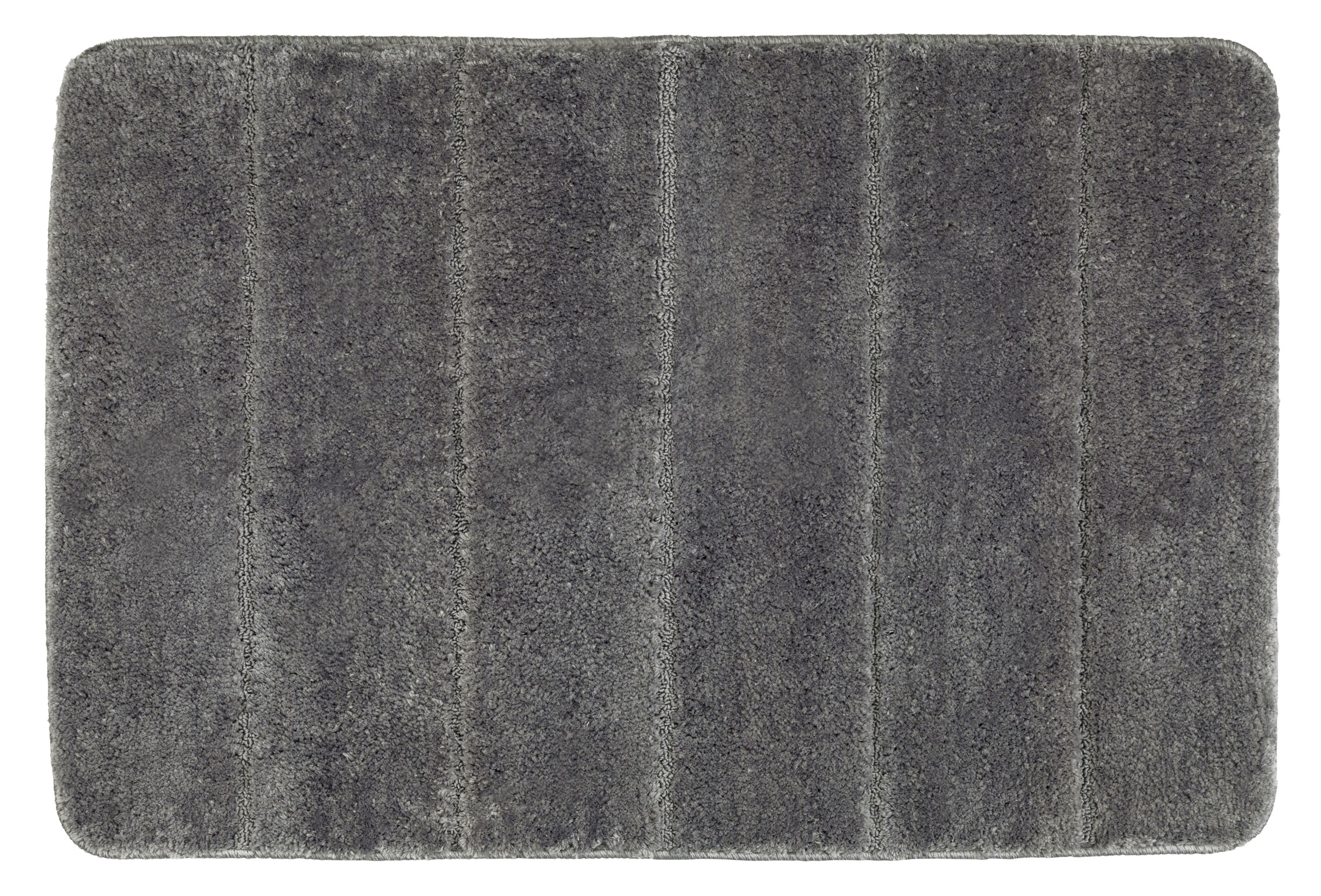 Wenko Badteppich Steps Mouse Grey, 60 x 90 cm, Mikrofaser