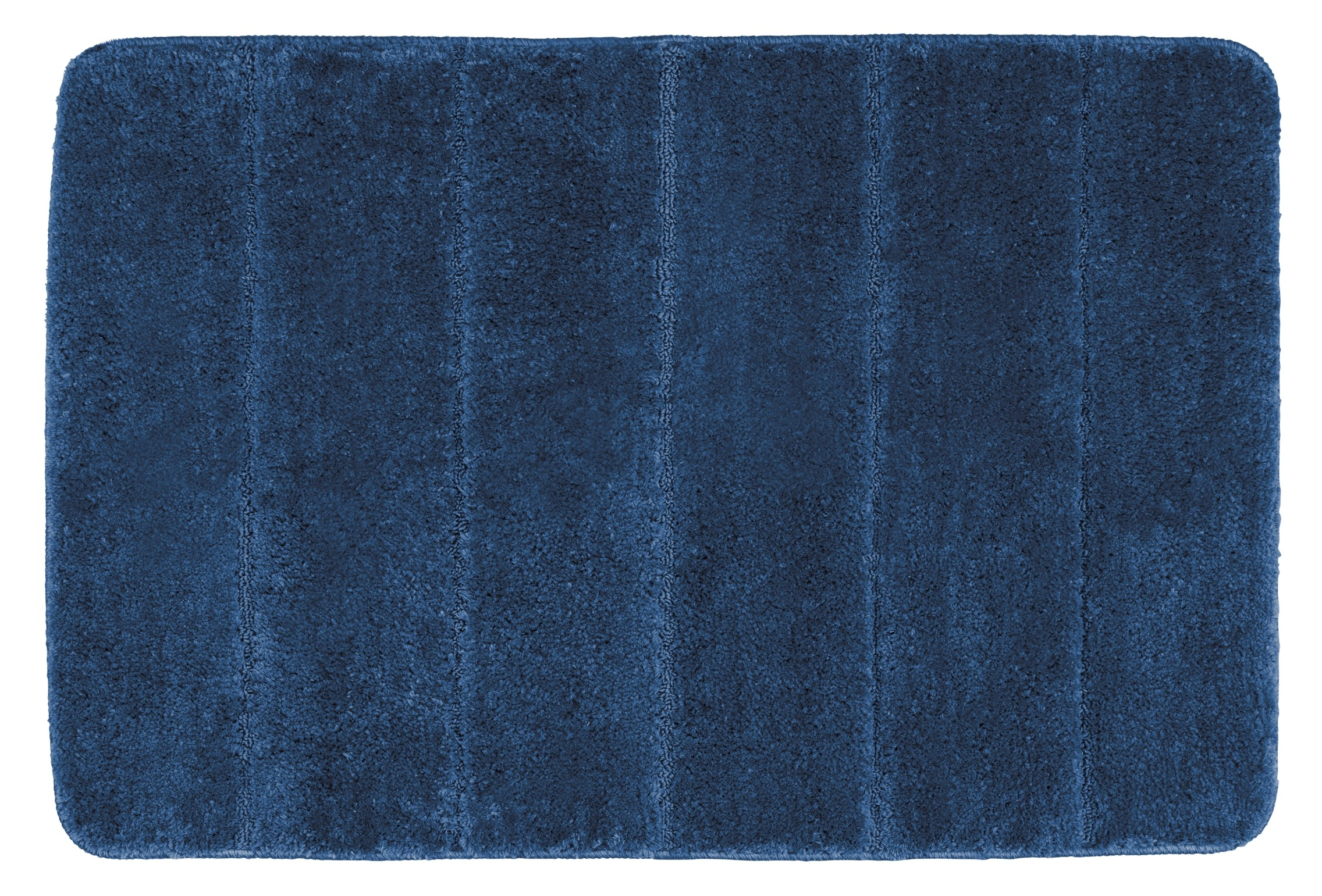 Wenko Badteppich Steps Marine Blue, 60 x 90 cm, Mikrofaser