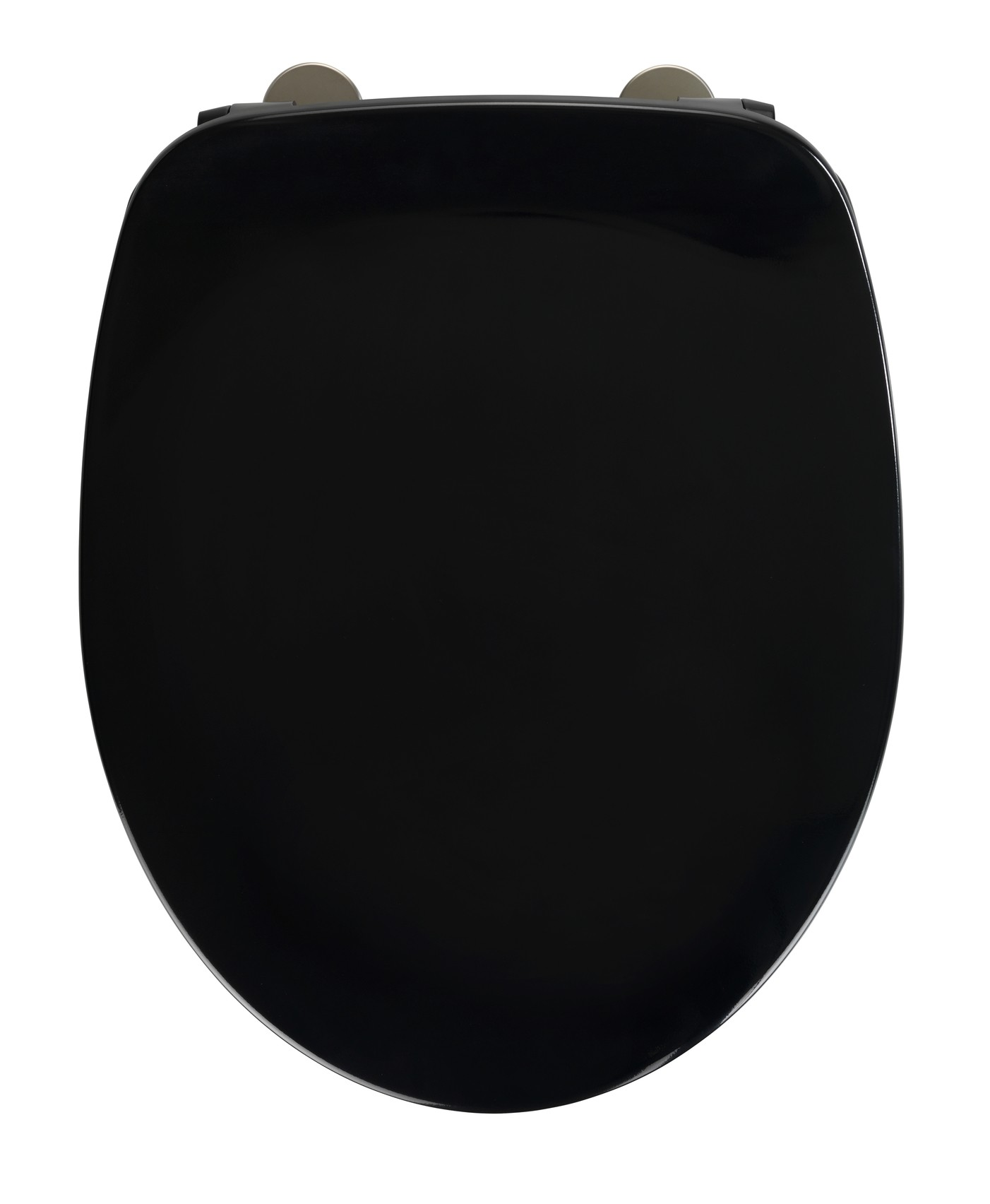 Wenko WC-Sitz Armonia Schwarz, Duroplast, mit Absenkautomatik