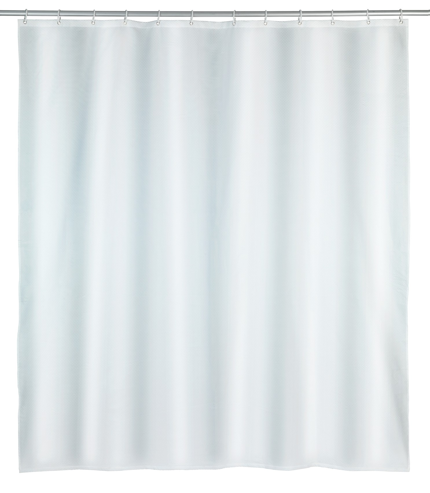 Wenko Duschvorhang Punto Weiß, Polyester, 180 x 200 cm, waschbar