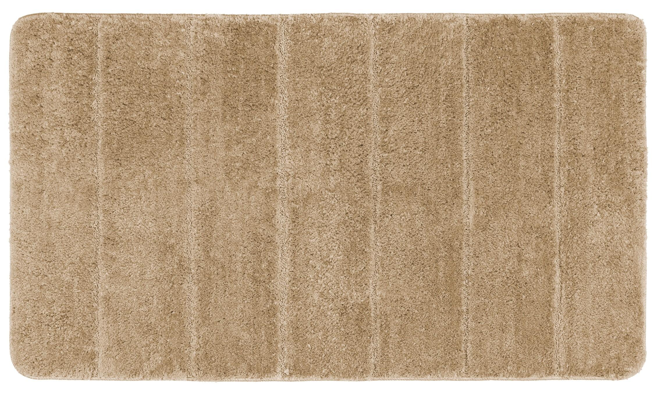 Wenko Badteppich Steps Sand, 70 x 120 cm, Mikrofaser