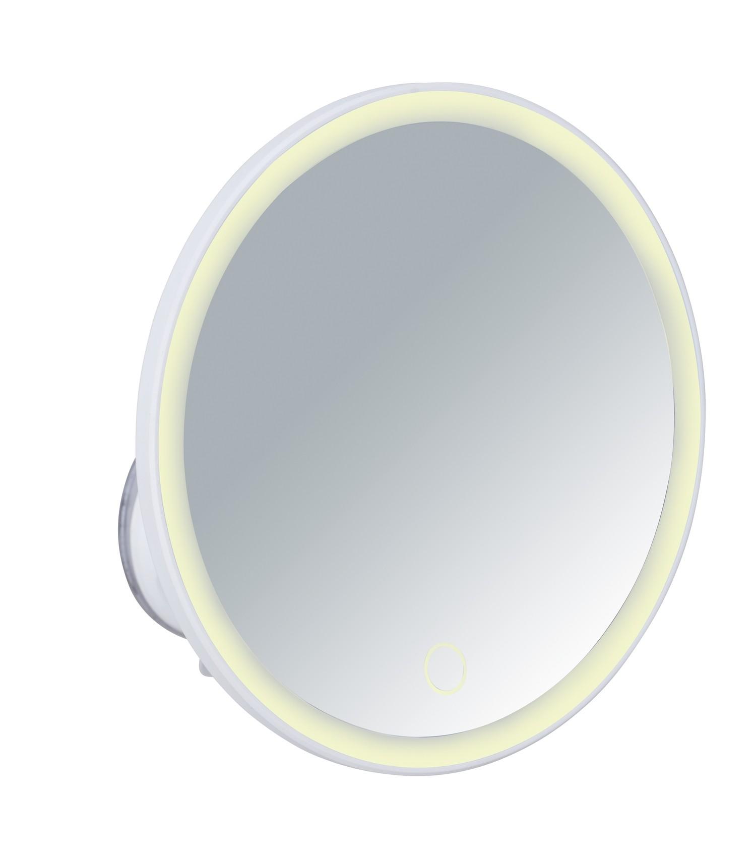 Wenko LED-Wandspiegel Isola, mit Saugnapf, 5-fach Vergrößerung