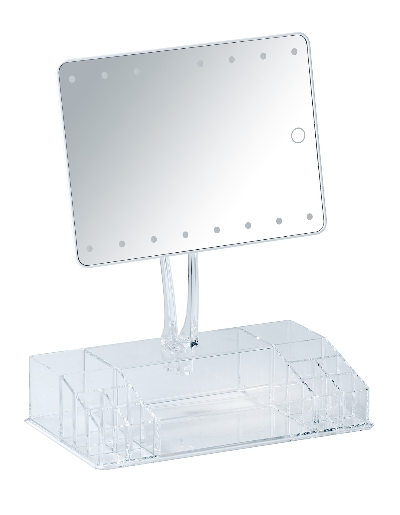 Wenko LED-Standspiegel mit Organizer Farnese, Leuchtspiegel
