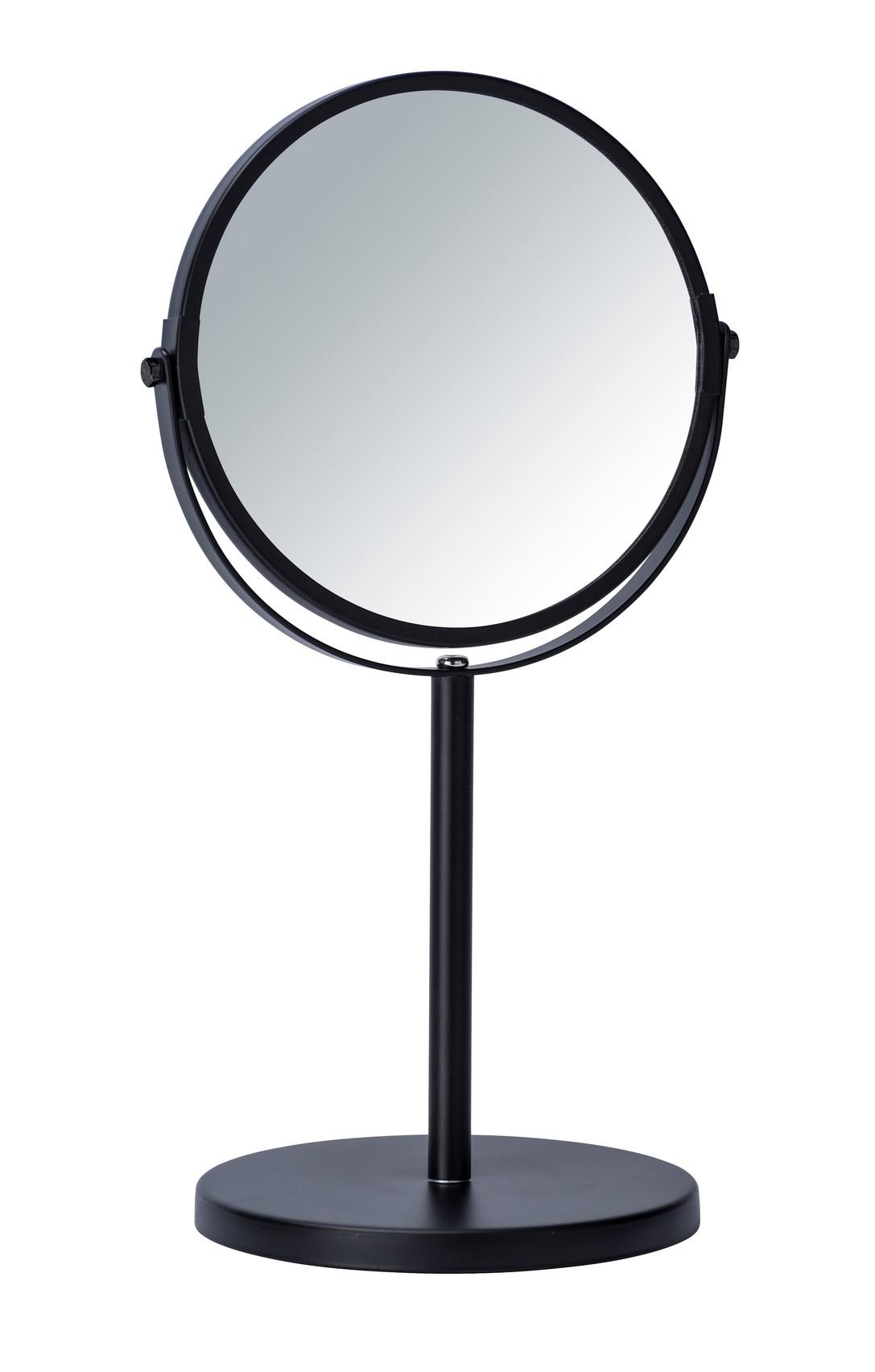 Wenko Kosmetik-Standspiegel Assisi Ø 17 cm Schwarz