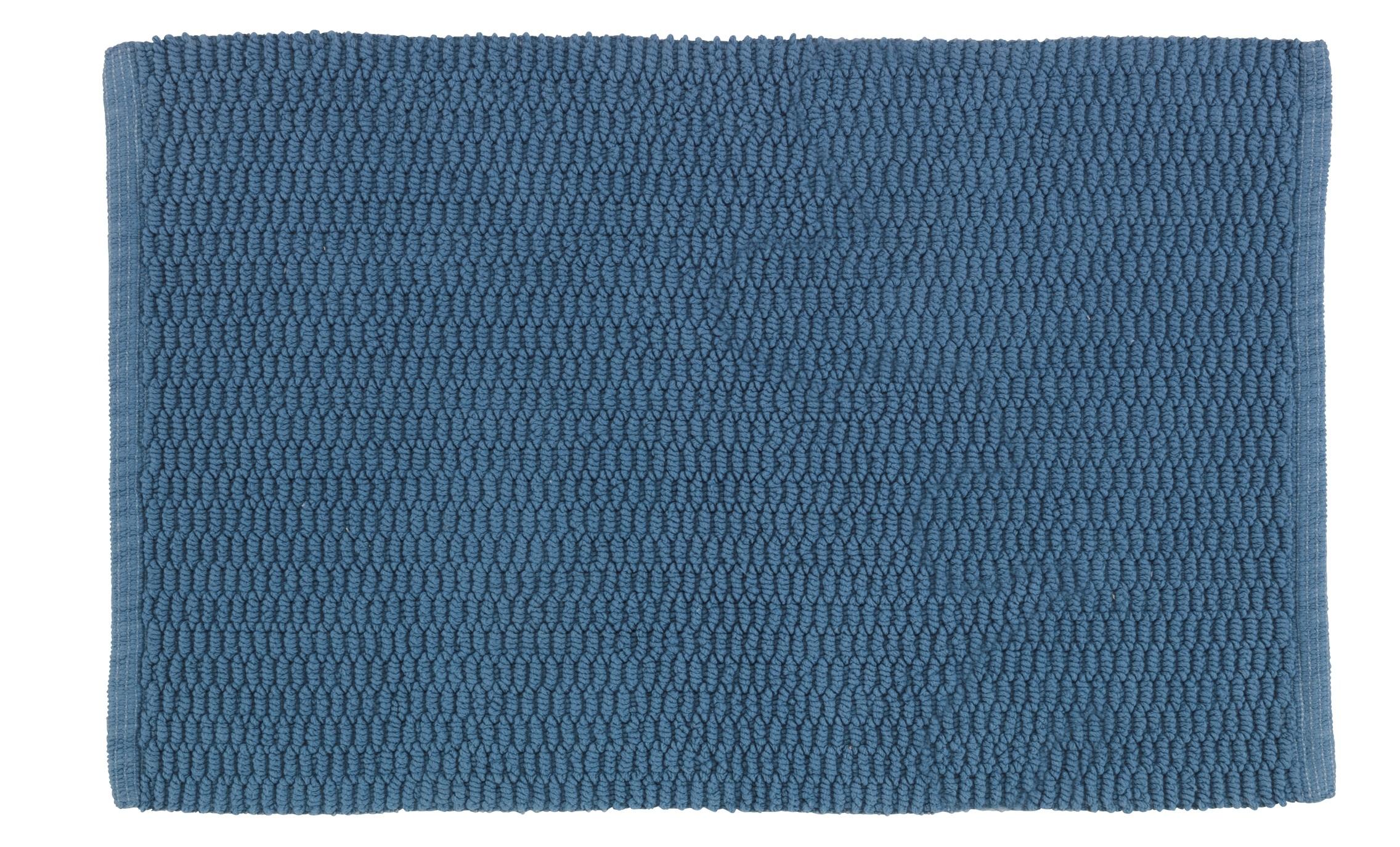 Wenko Badteppich Mona Graublau, Baumwolle, 50 x 80 cm