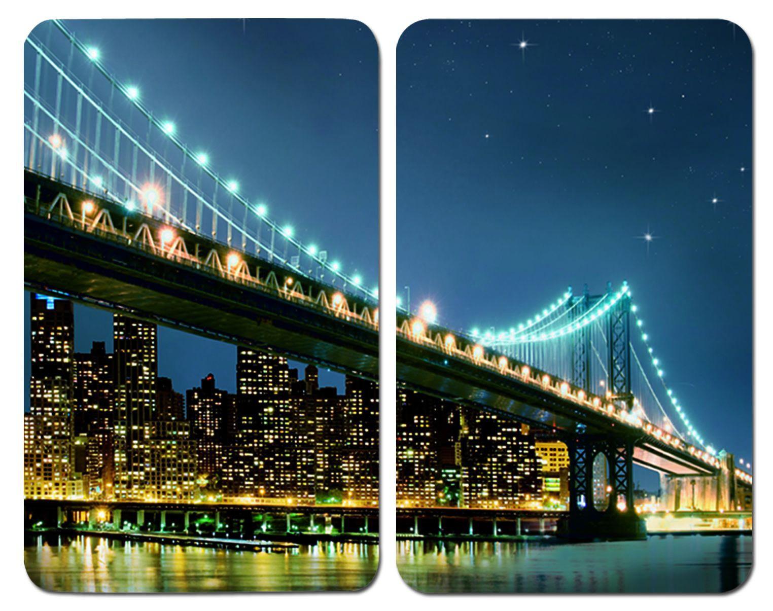 Herdabdeckplatte Universal Brooklyn Bridge, 2er Set, für alle Herdarten