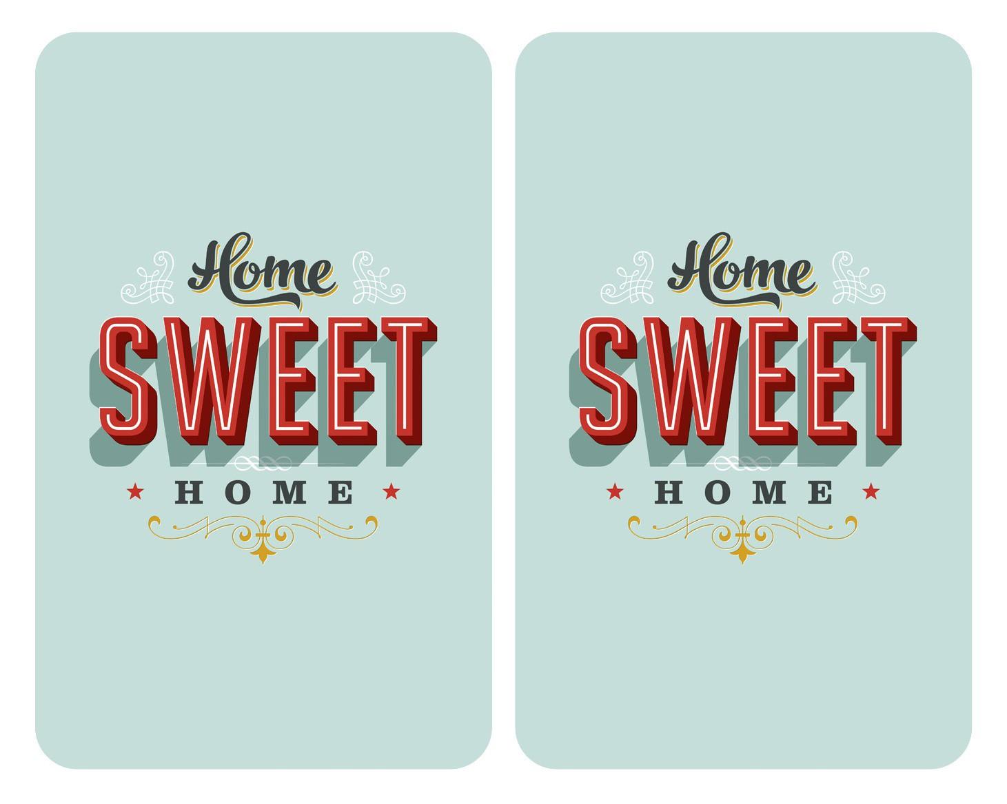 Herdabdeckplatte Universal Home Sweet Home, 2er Set, für alle Herdarten