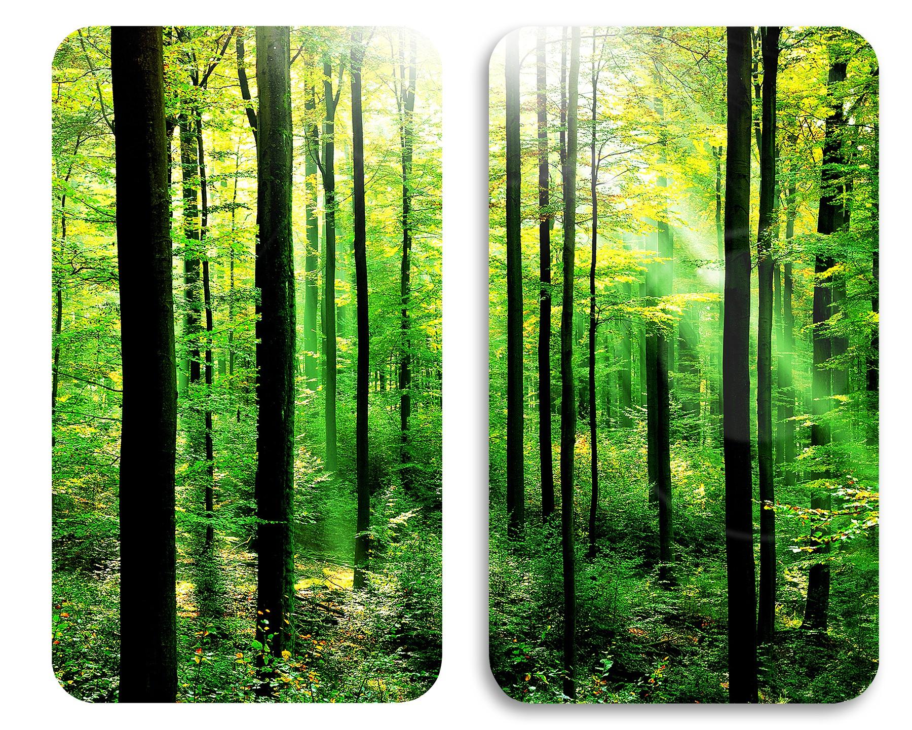 Wenko Herdabdeckplatte Universal Wald, 2er Set, für alle Herdarten
