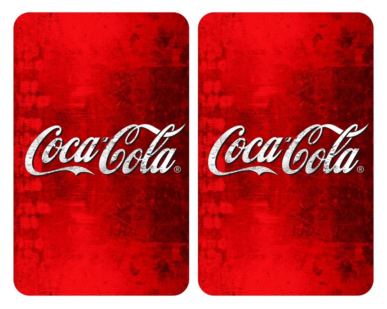 Wenko Glasabdeckplatten Universal Coca-Cola Classic, 2er Set, für alle Herdarten