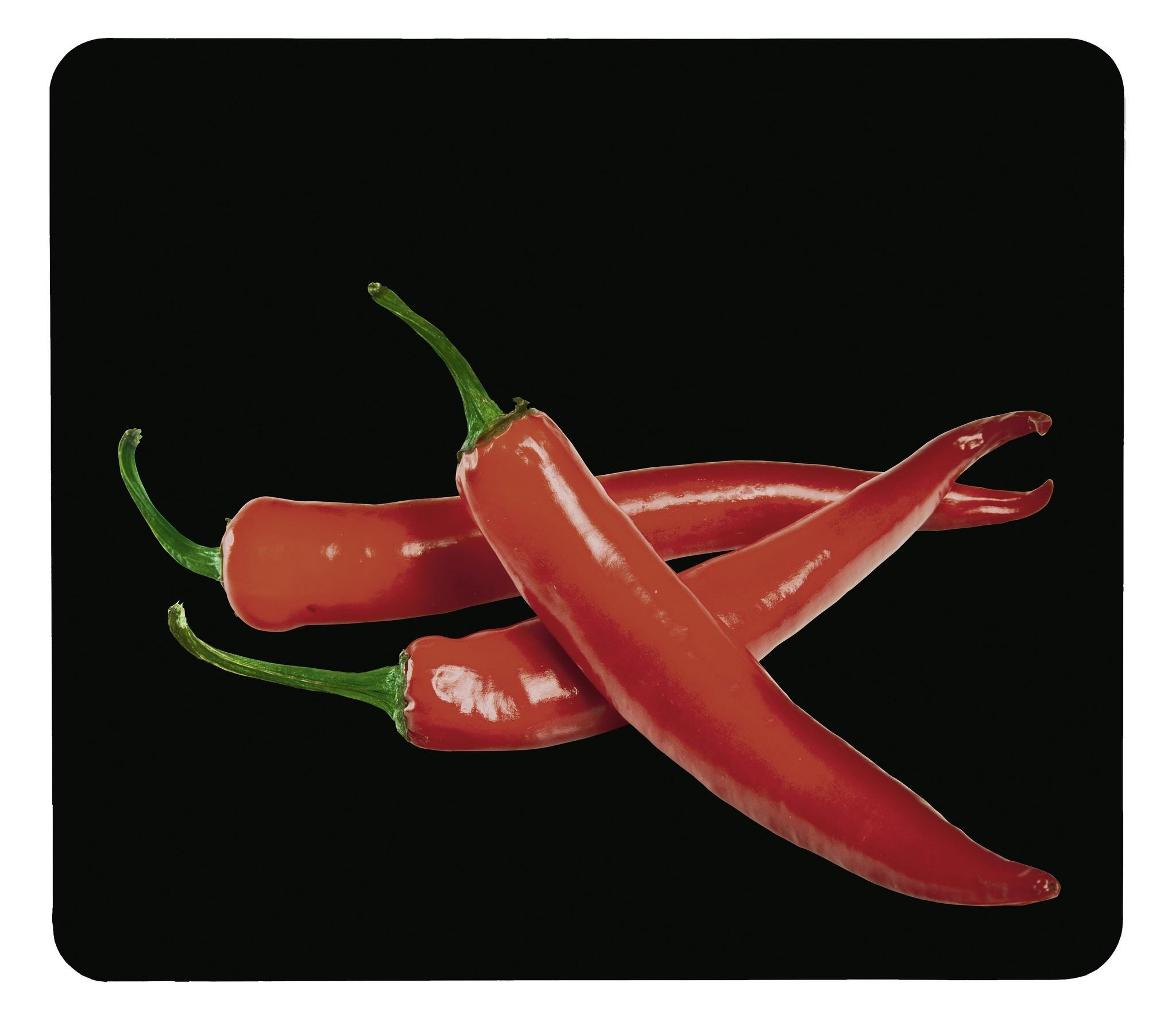 Motivplatte Hot Peperoni, für Glaskeramik Kochfelder, Schneidbrett