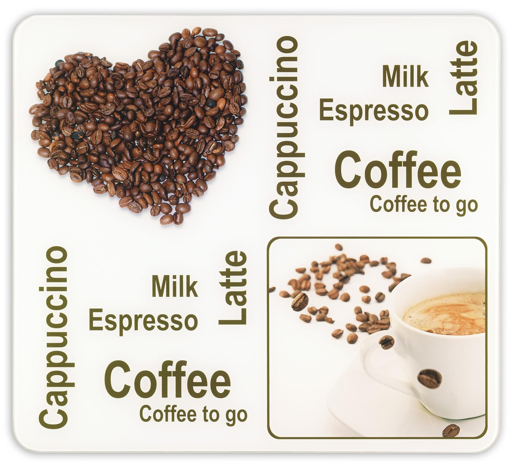 Wenko Multi-Platte Kaffeegenuss, für Glaskeramik Kochfelder, Schneidbrett