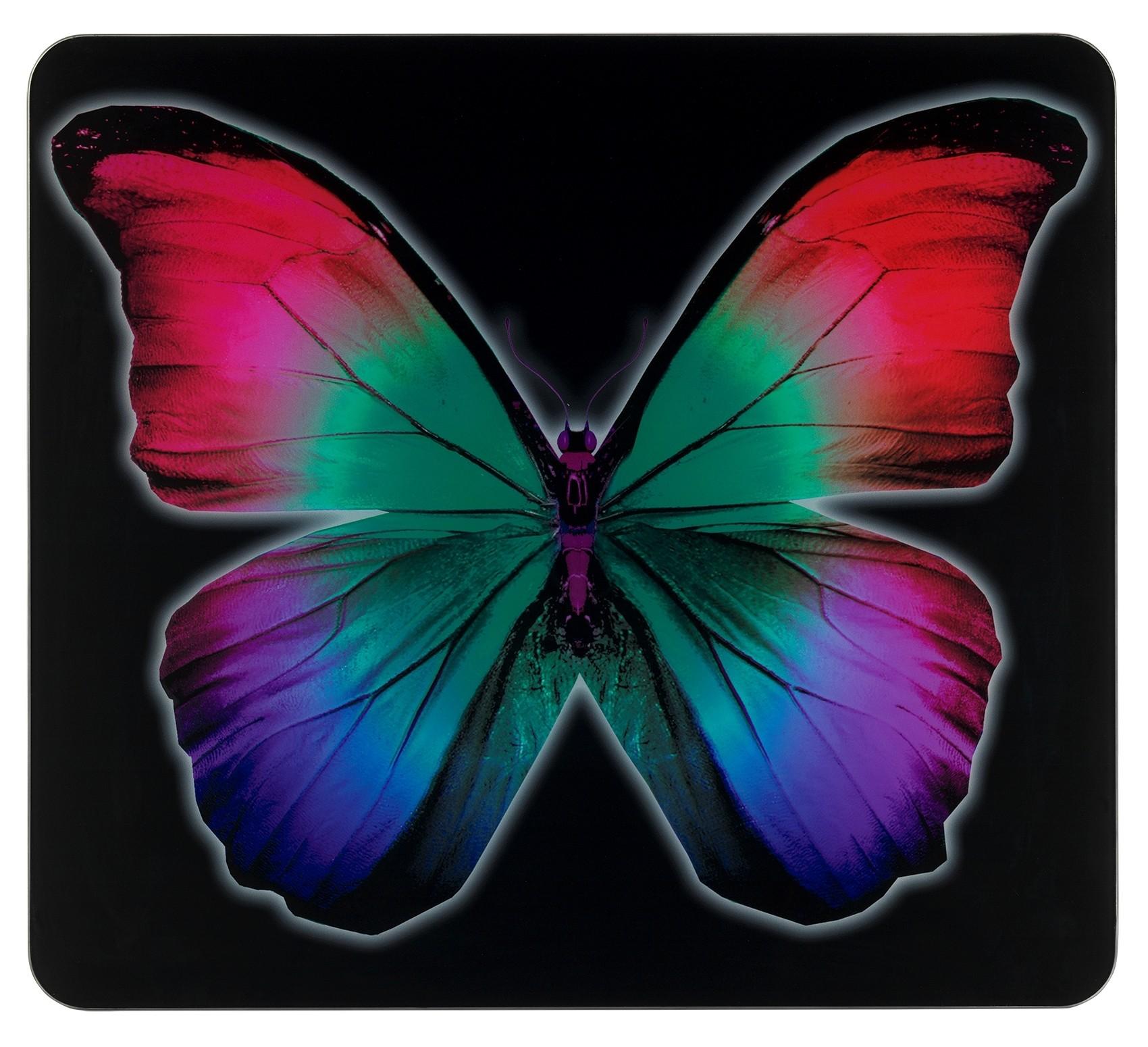 Wenko Multi-Platte Butterfly by Night, für Glaskeramik Kochfelder