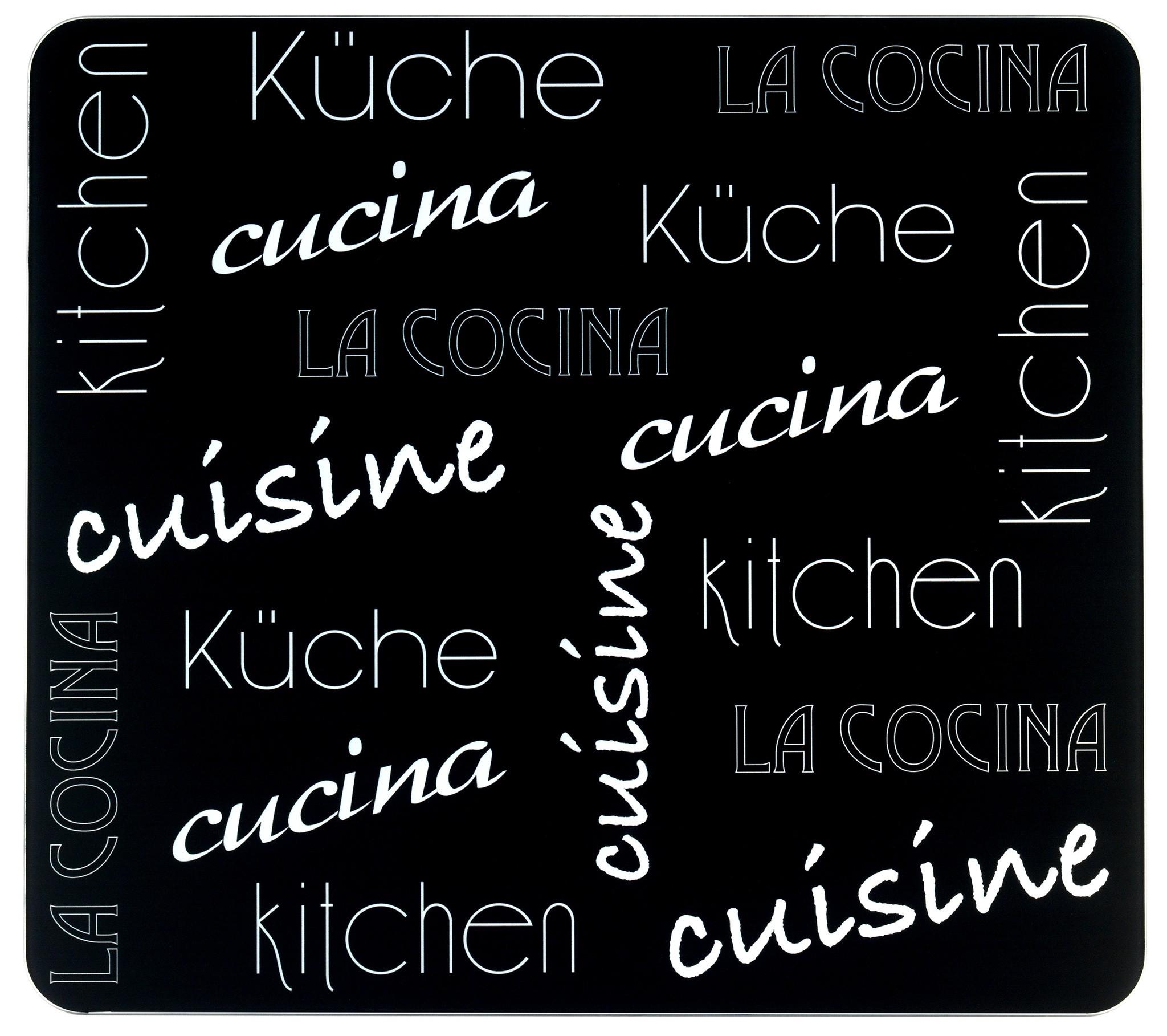 Multi-Platte Küche International, für Glaskeramik Kochfelder, Schneidbrett