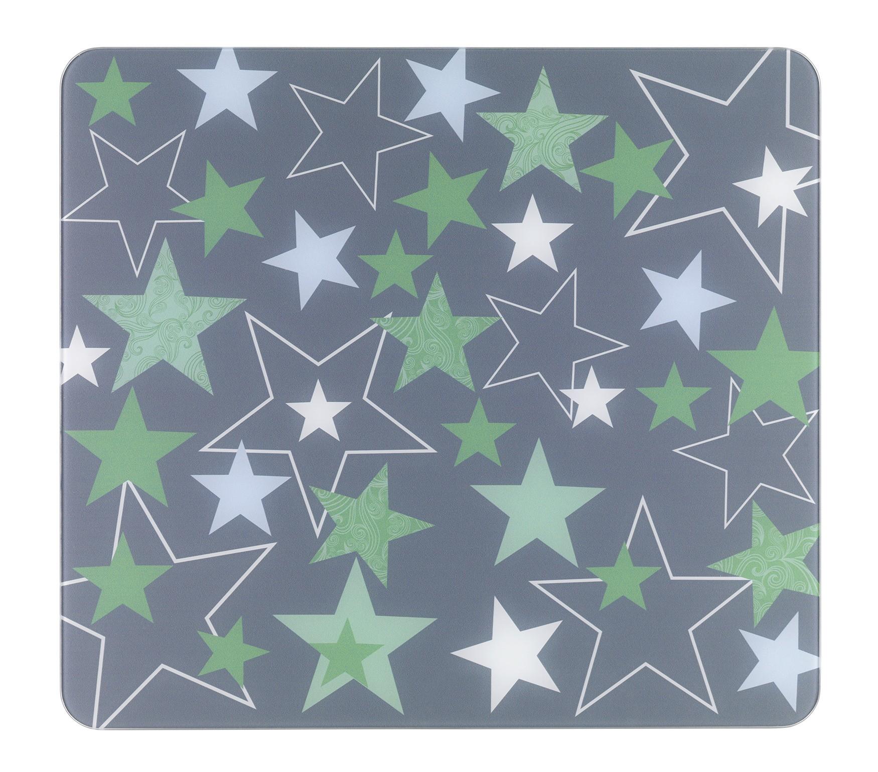 Multi-Platte Sterne Grün, für Glaskeramik Kochfelder, Schneidbrett