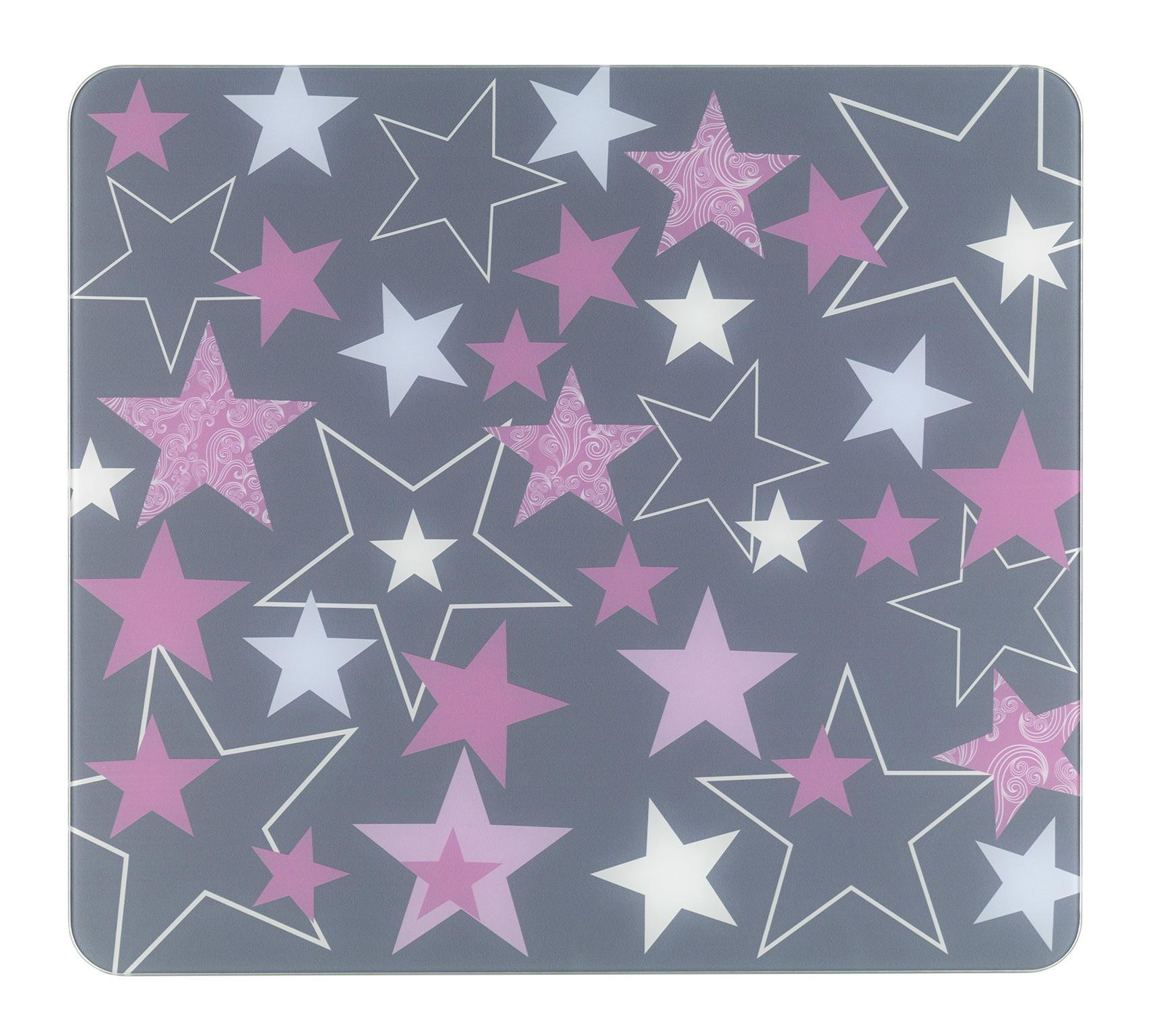 Multi-Platte Sterne Rosa, für Glaskeramik Kochfelder, Schneidbrett
