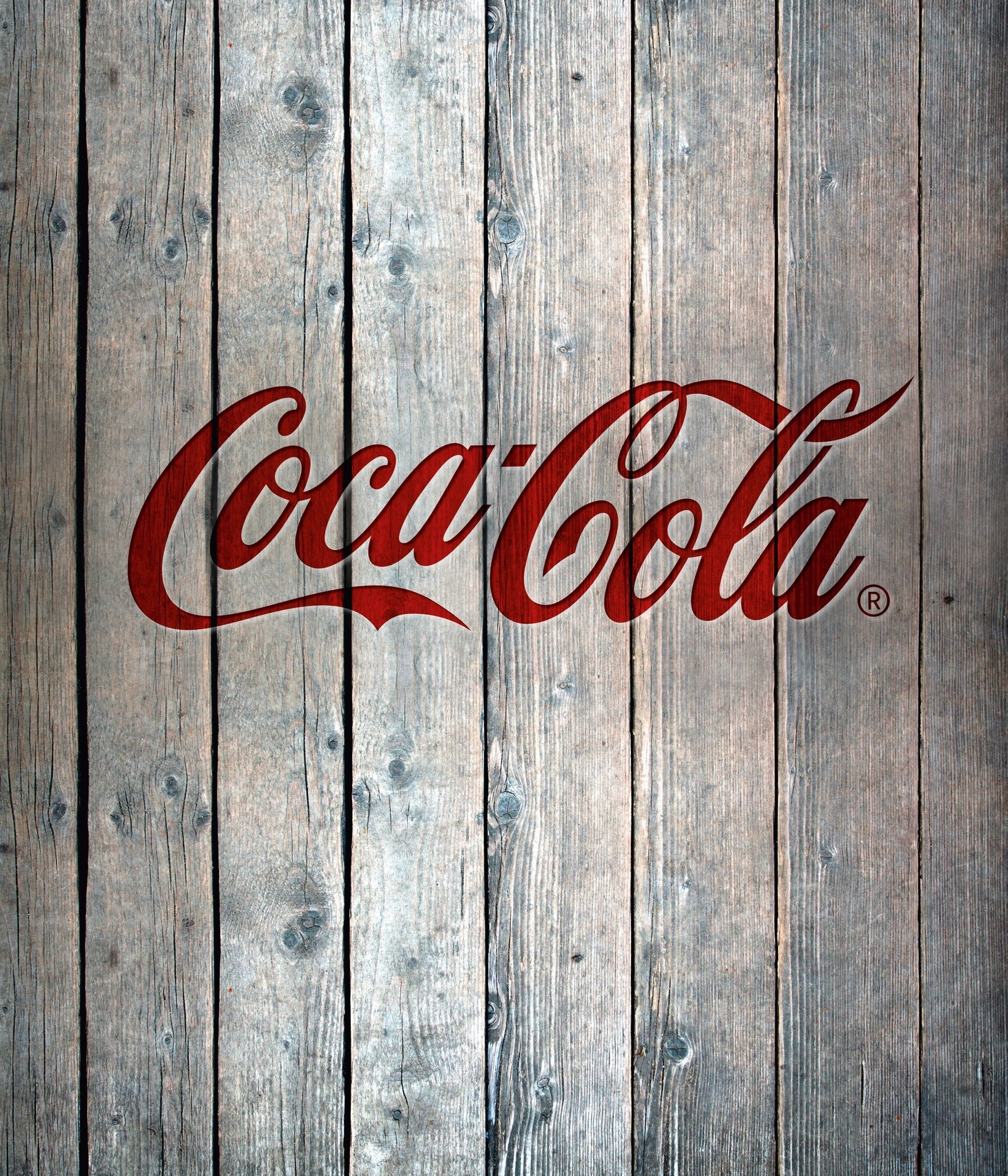 Wenko Glasrückwand Coca-Cola Wood, 60 x 70 cm