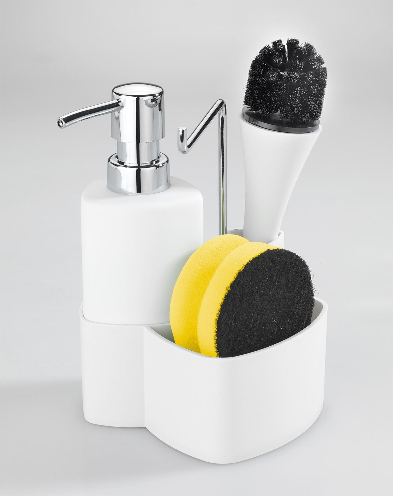 Wenko Spül-Set Empire Weiß, mit Spülbürste