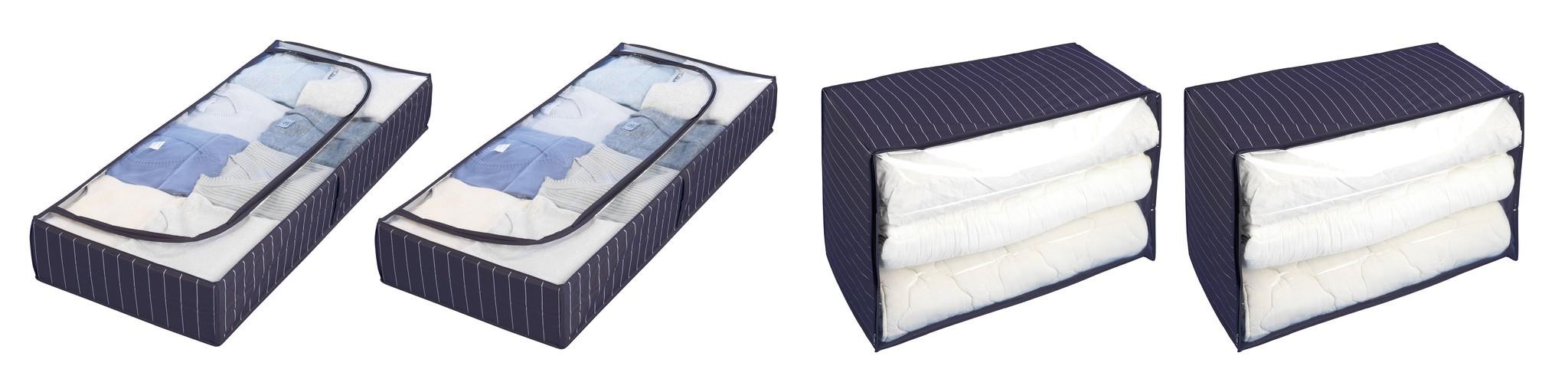 Wenko Aufbewahrungs-Set Comfort, 2x Unterbettkommode & 2x Jumbobox