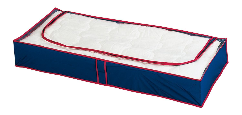 Unterbettkommode Blau-Rot, 8er Set