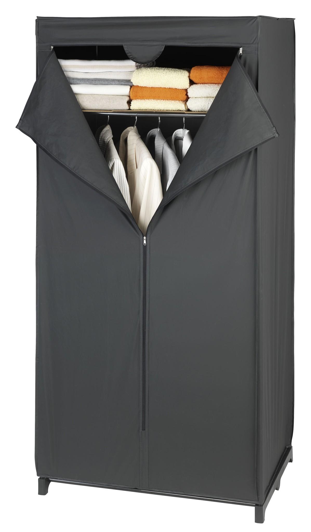 Kleiderschrank Deep Black mit Ablage