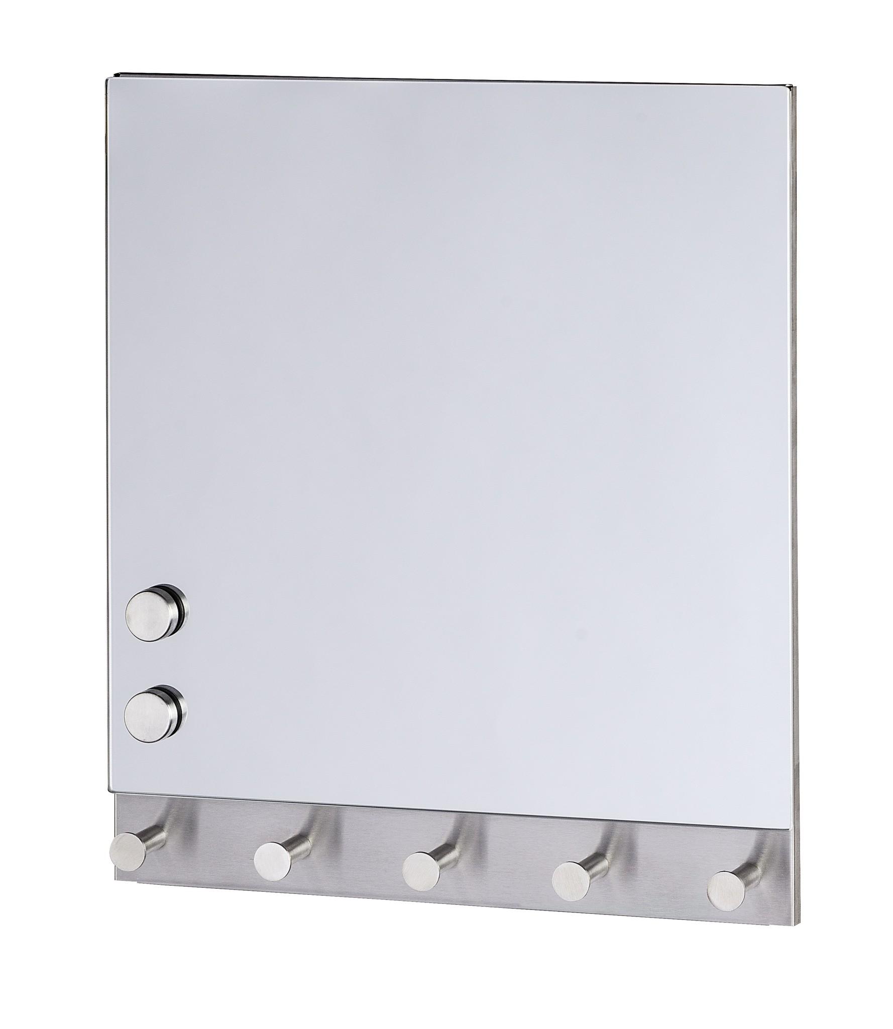 Magnetische Garderobe Mirror, 5 Haken, 30 x 34 cm