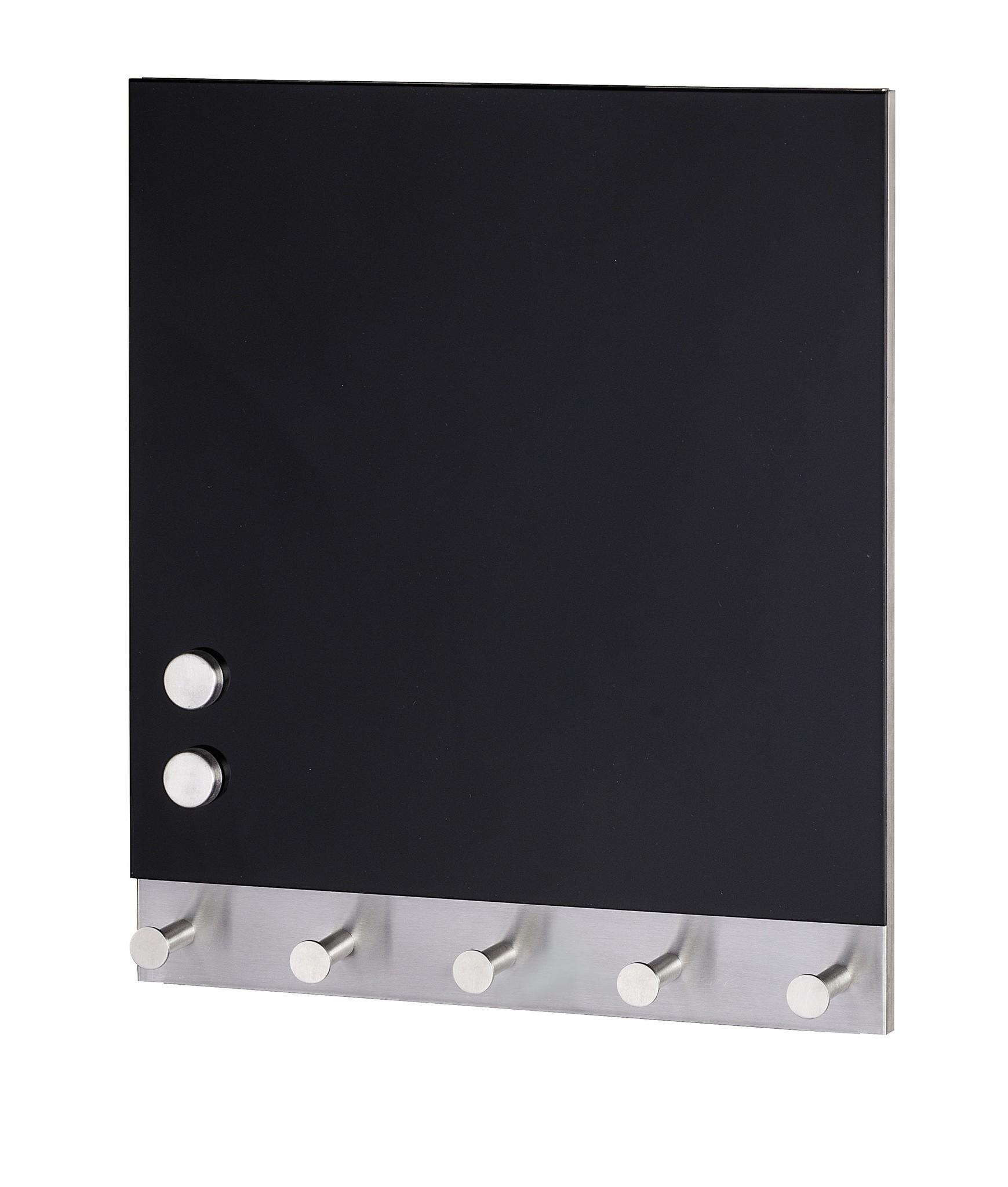 Wenko Magnetische Garderobe Black, 5 Haken, 30 x 34 cm