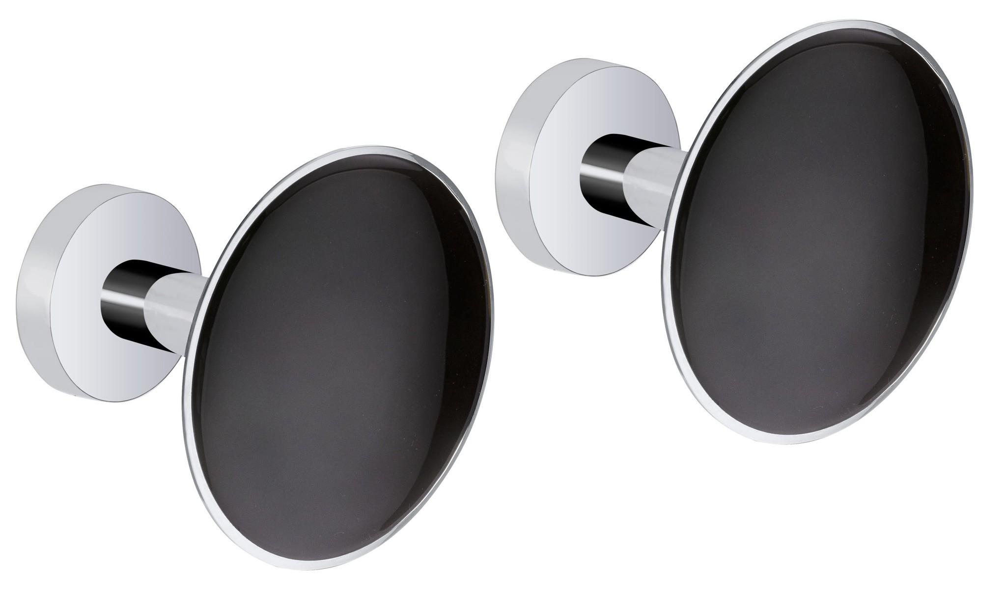 Design Wandhaken Black, 2er Set