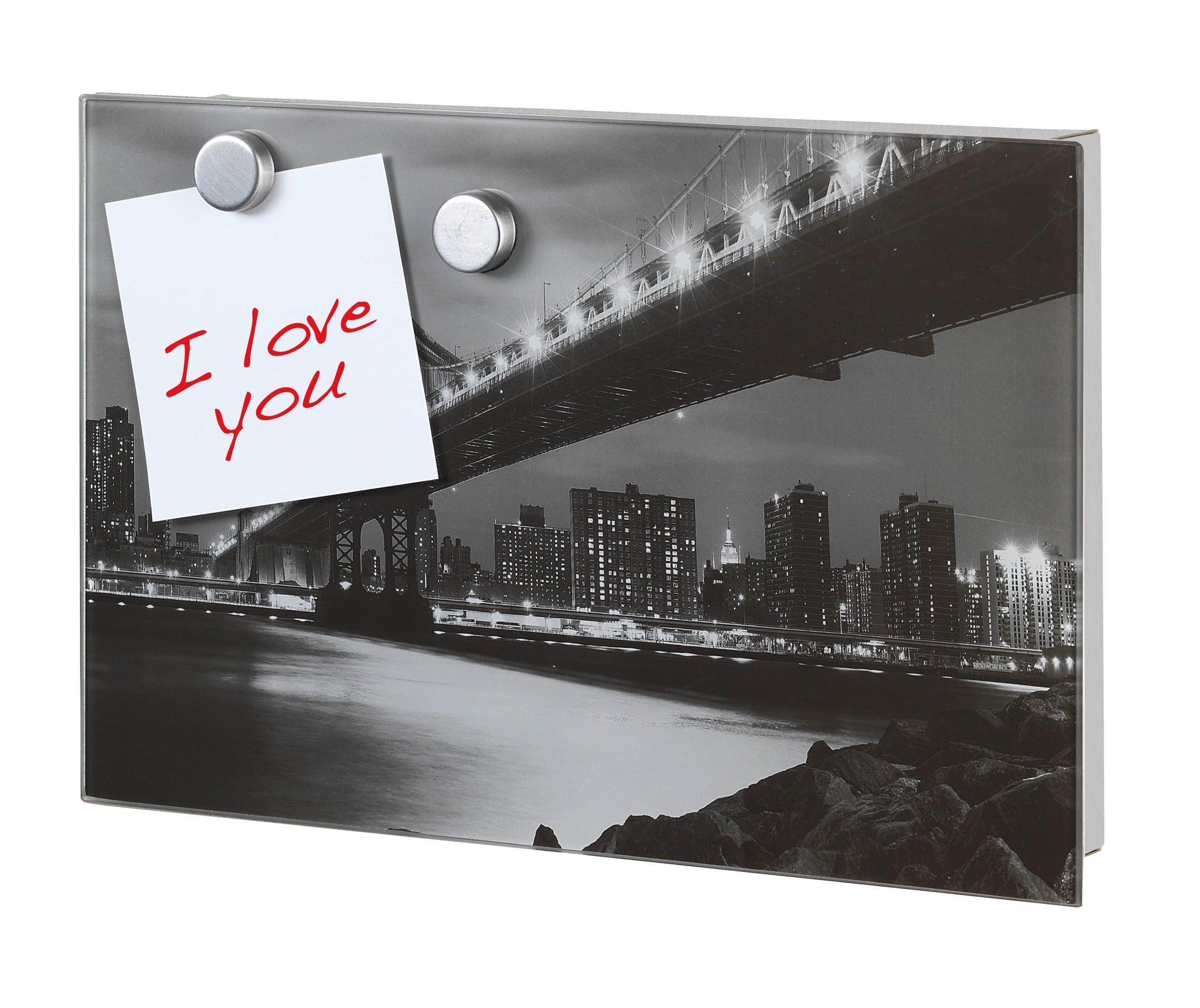 Wenko Schlüsselkasten Manhattan Bridge, magnetisch, 30 x 20 cm
