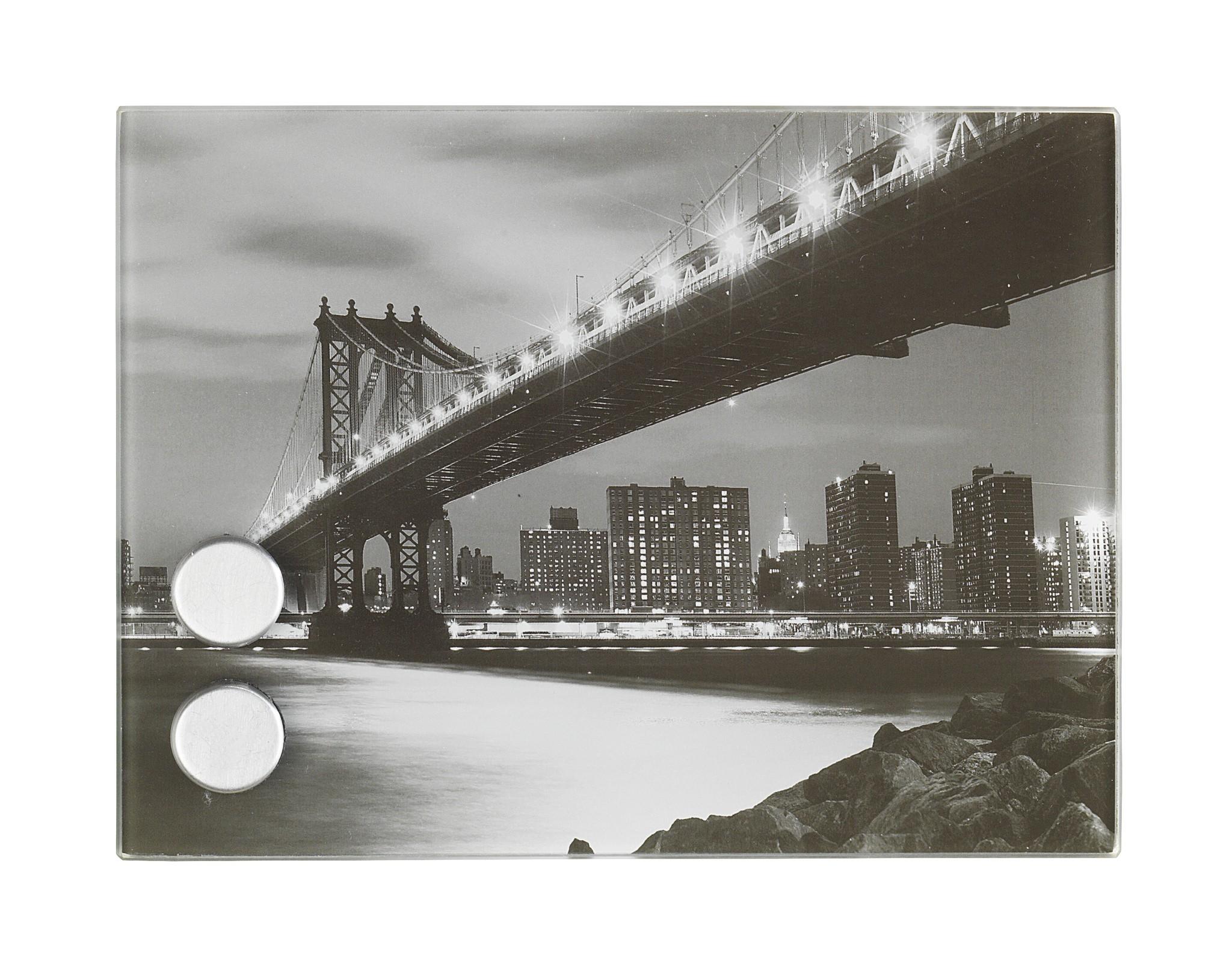 Wenko Schlüsselkasten Manhattan Bridge, magnetisch, 20 x 15 cm