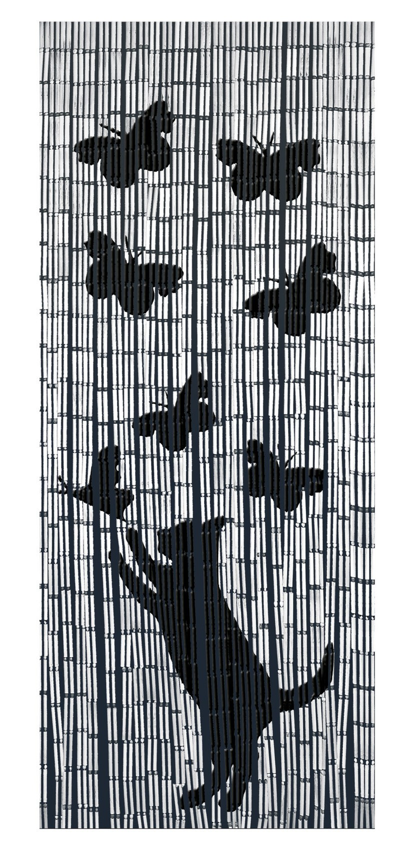 Wenko Bambusvorhang Katze und Schmetterling
