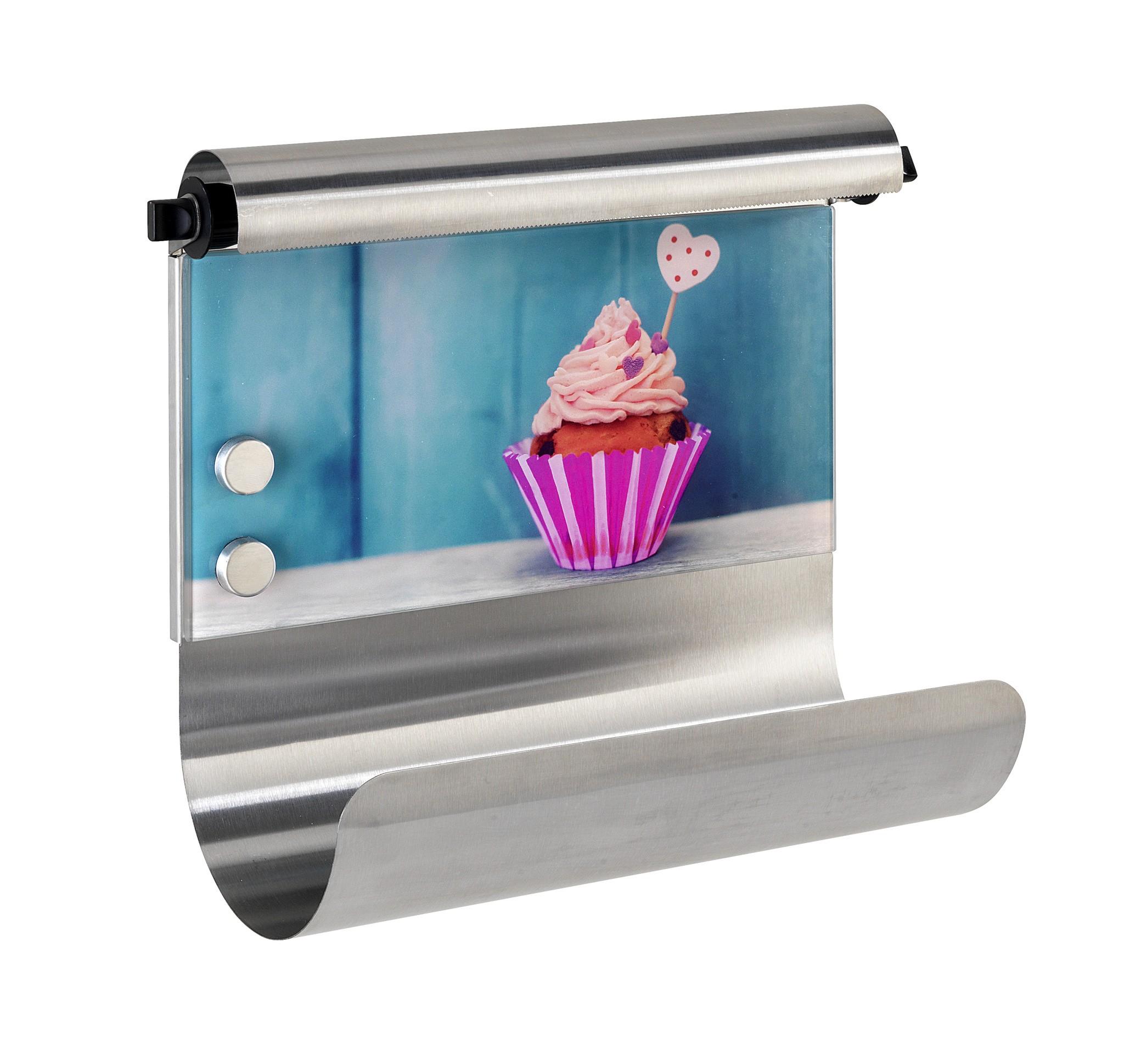 Magnetischer Rollenhalter Cupcake, mit Folienspender