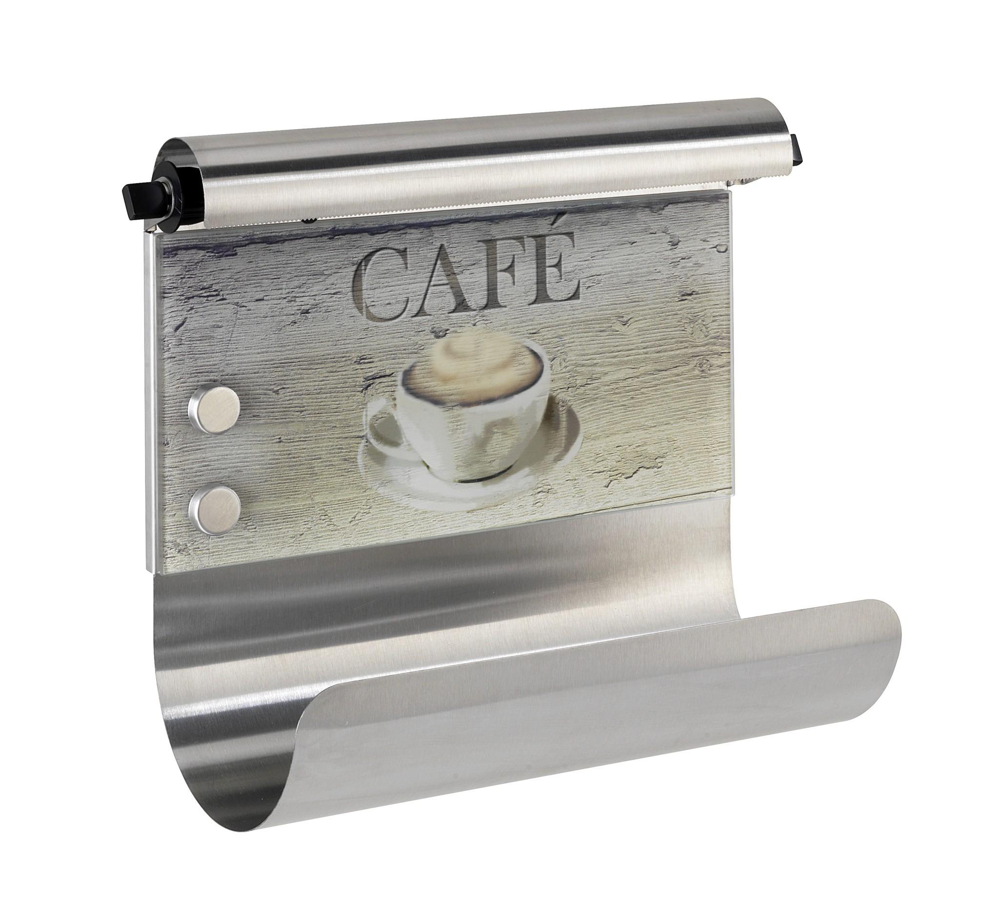 Wenko Magnetischer Rollenhalter Café, mit Folienspender