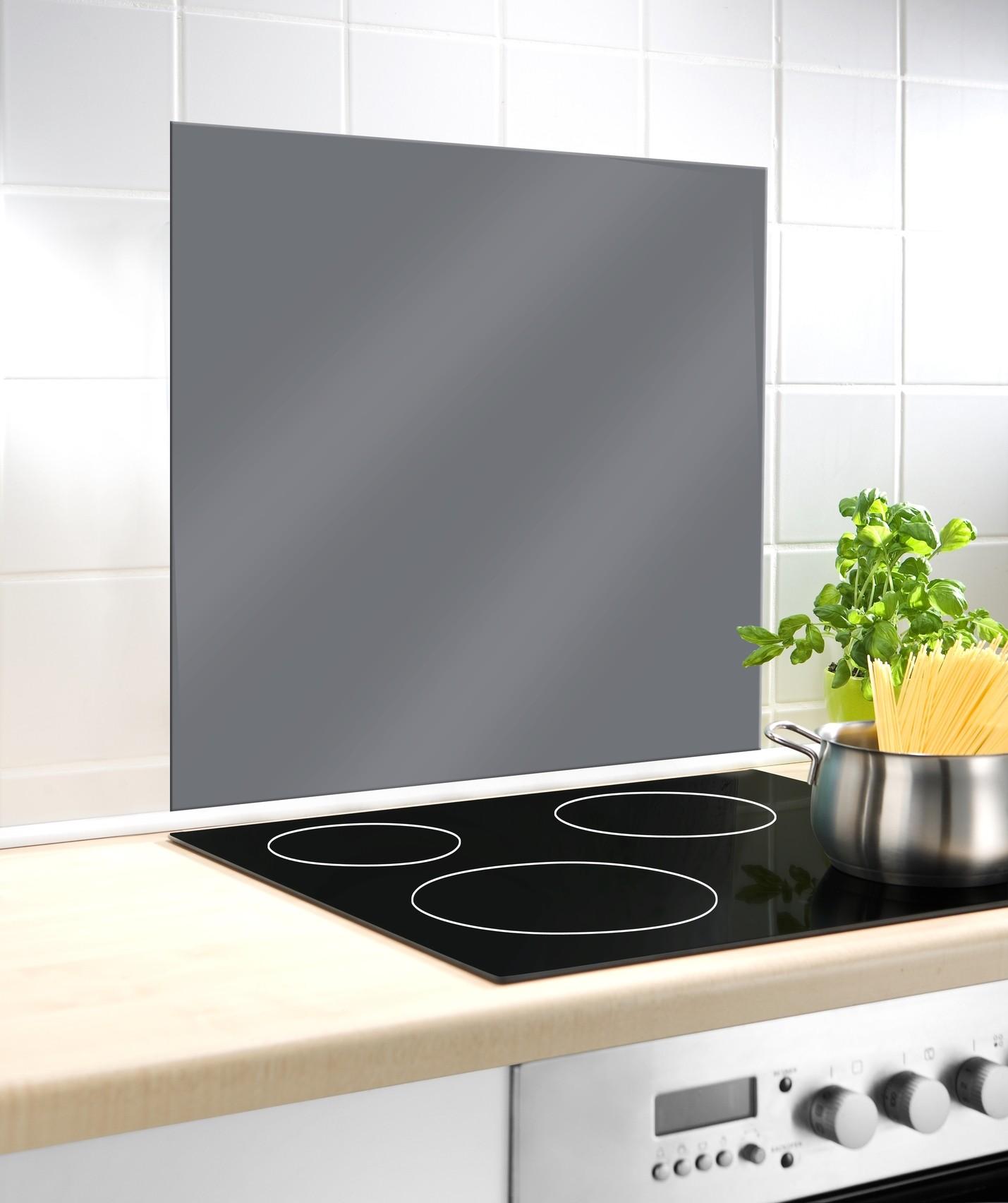 Wenko Glasrückwand Grau, 60 x 70 cm