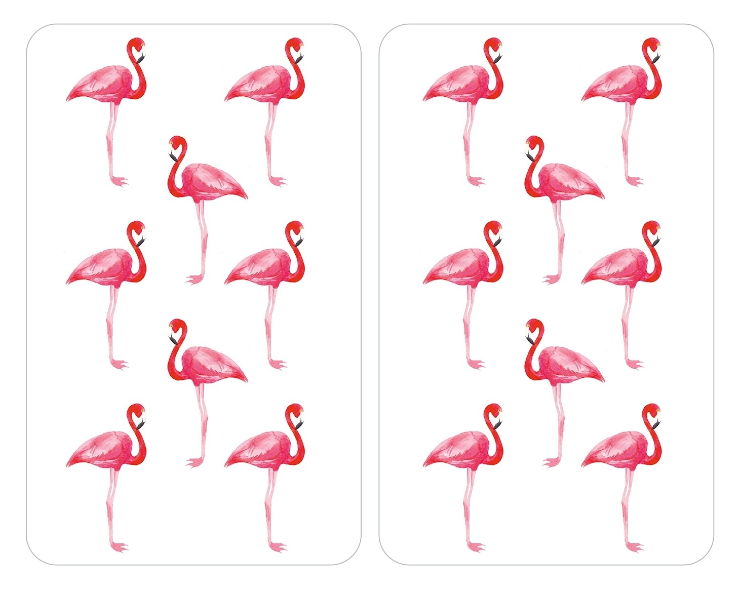 Wenko Herdabdeckplatten Universal Flamingo, 2er Set, für alle Herdarten