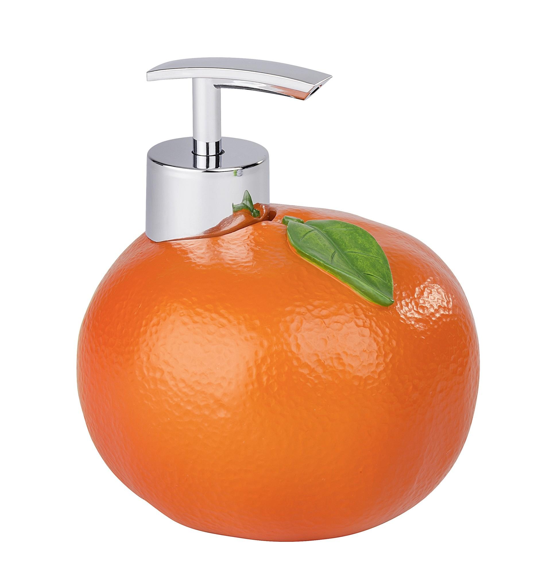 Wenko Seifenspender Orange, Spülmittelspender, 300 ml