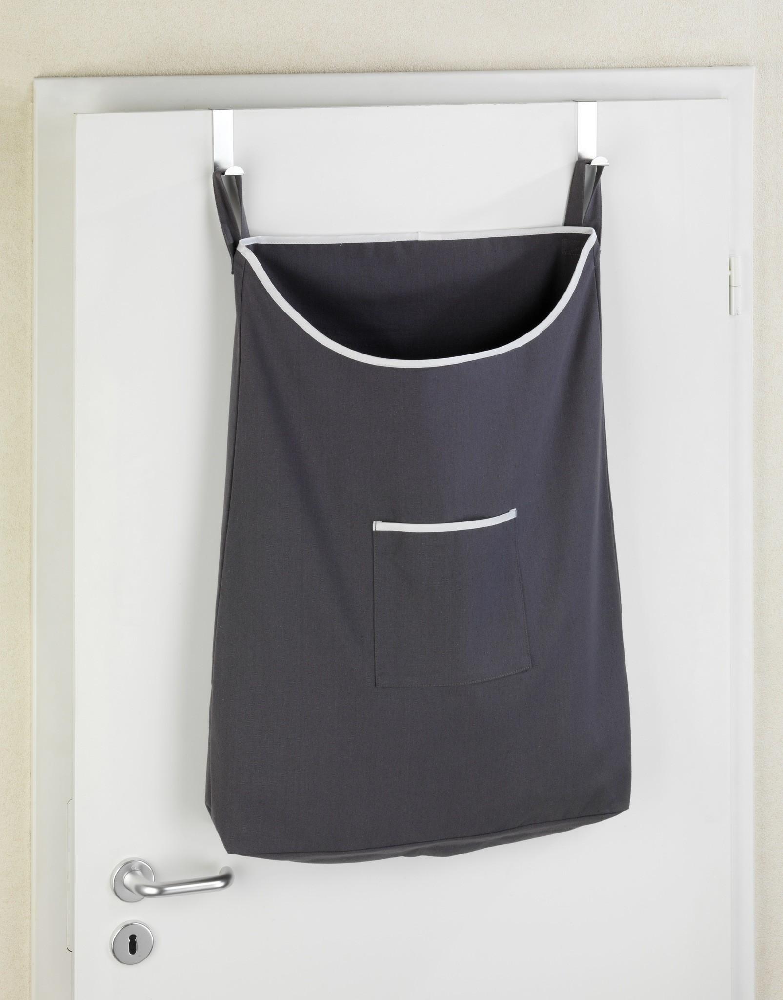 Über-Tür Wäschesammler Canguro Grau, 65 l