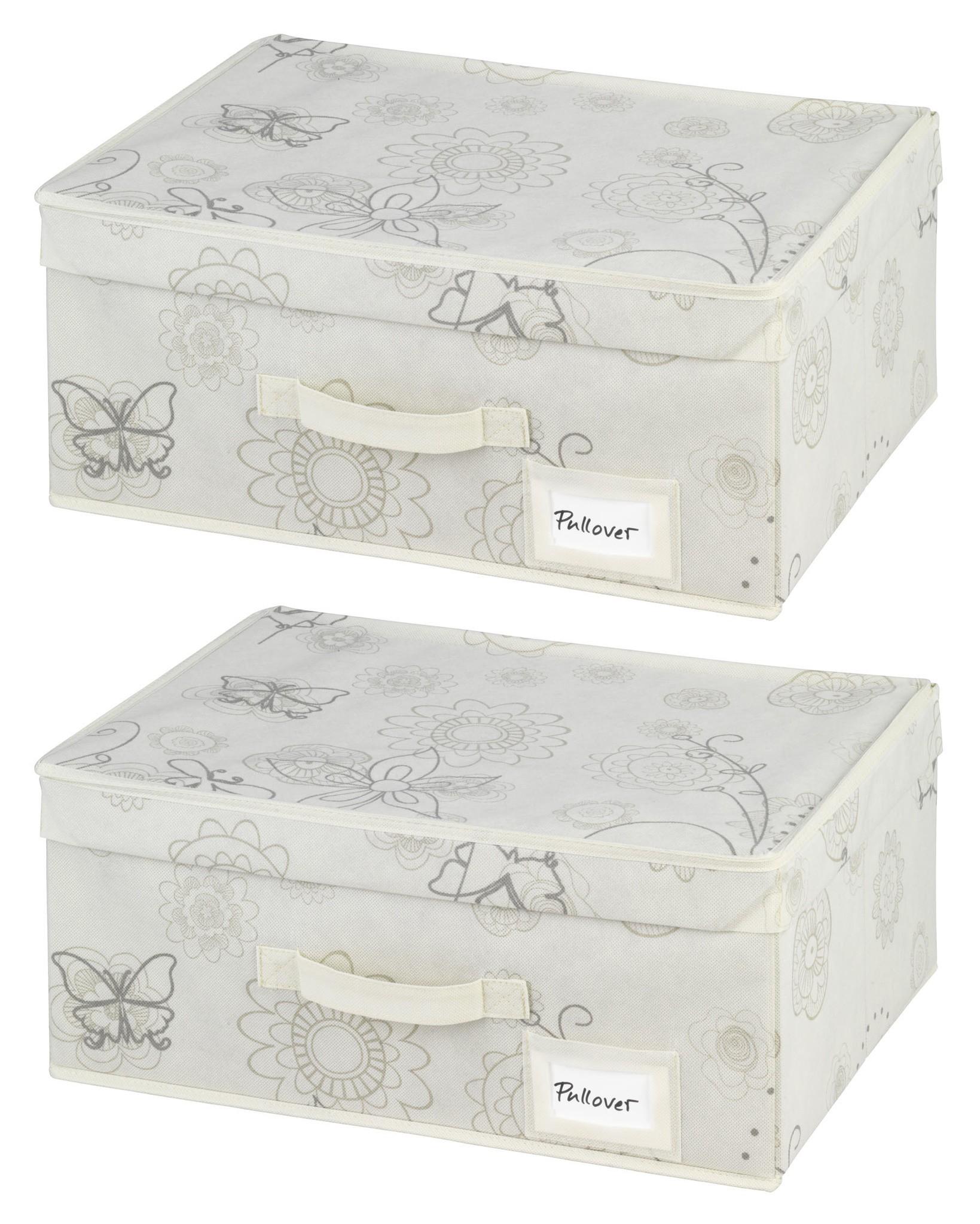 Aufbewahrungsbox Butterfly, 2er Set