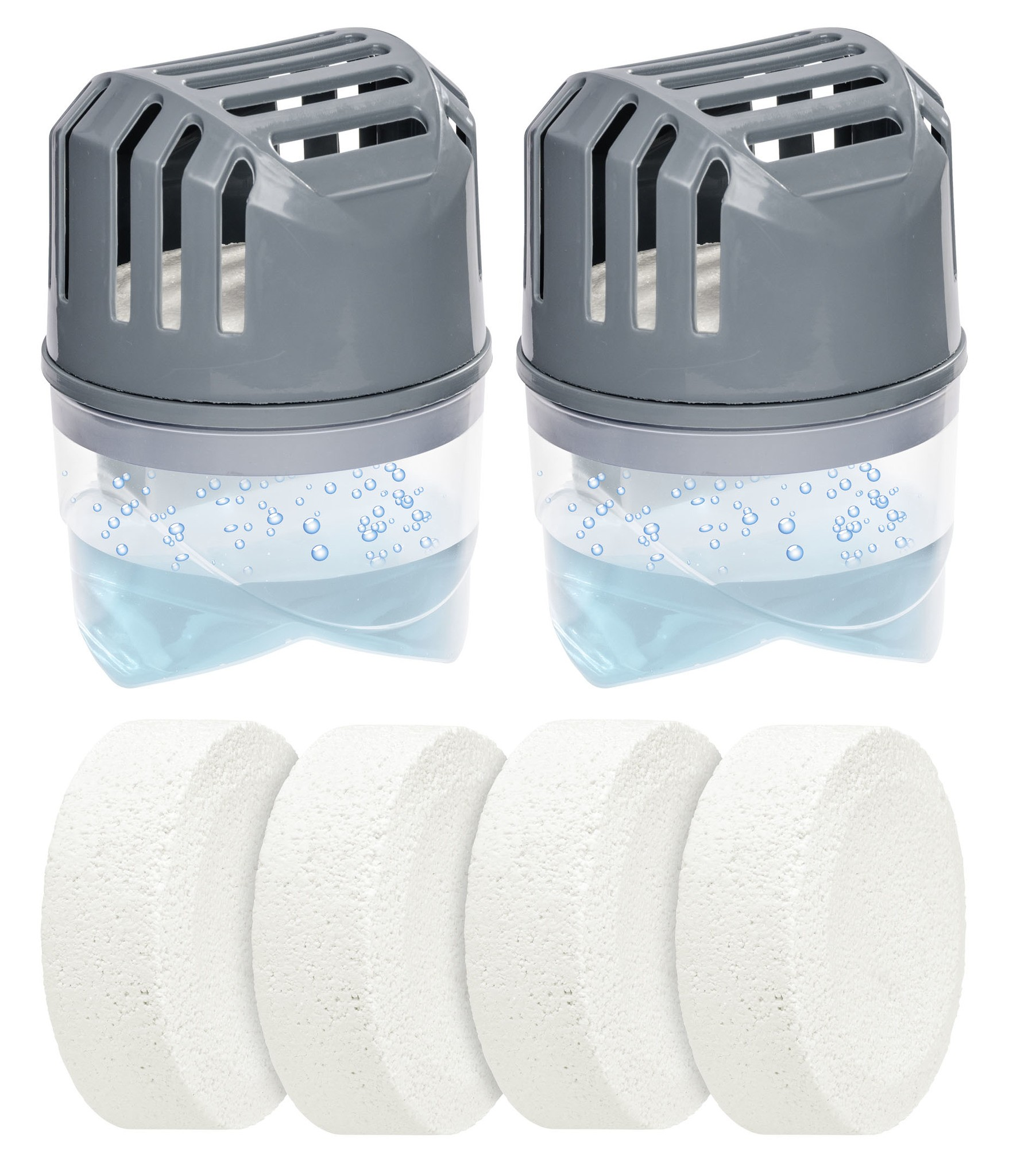 Feuchtigkeitskiller Grau 2 x 250 g inklusive 4 Nachfüller