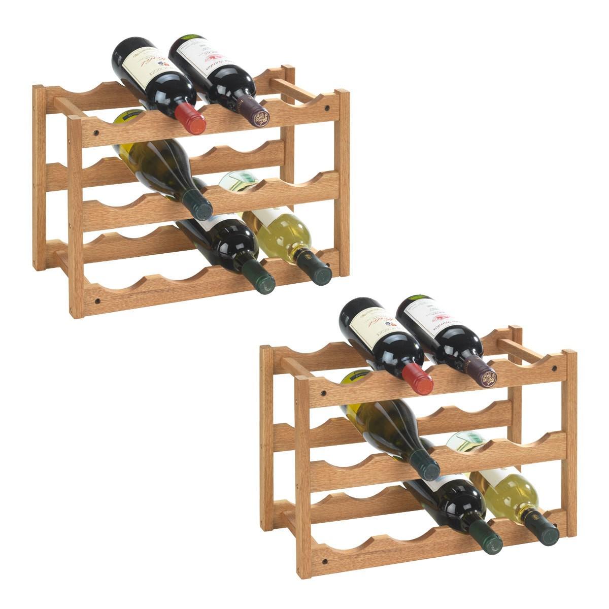 Weinregal-Set Norway, 2-teilig, für 24 Flaschen