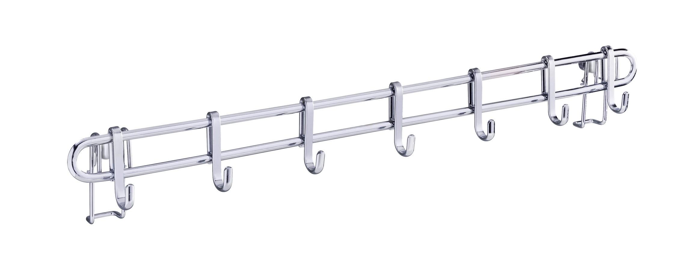 Wenko Vacuum-Loc® Hakenleiste Style mit 7 Haken, 60 cm, Befestigen ohne bohren